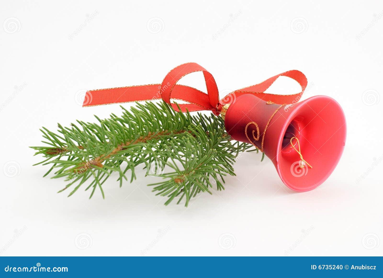 Één rode Kerstmisklok