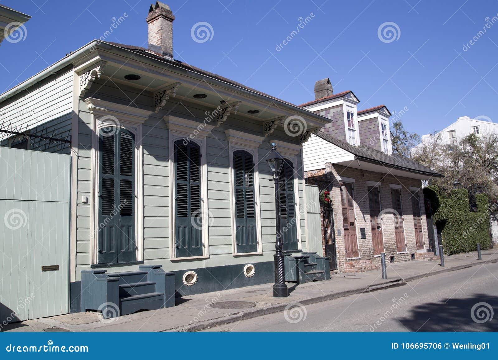 Één vloerhuis in Frans Kwart New Orleans