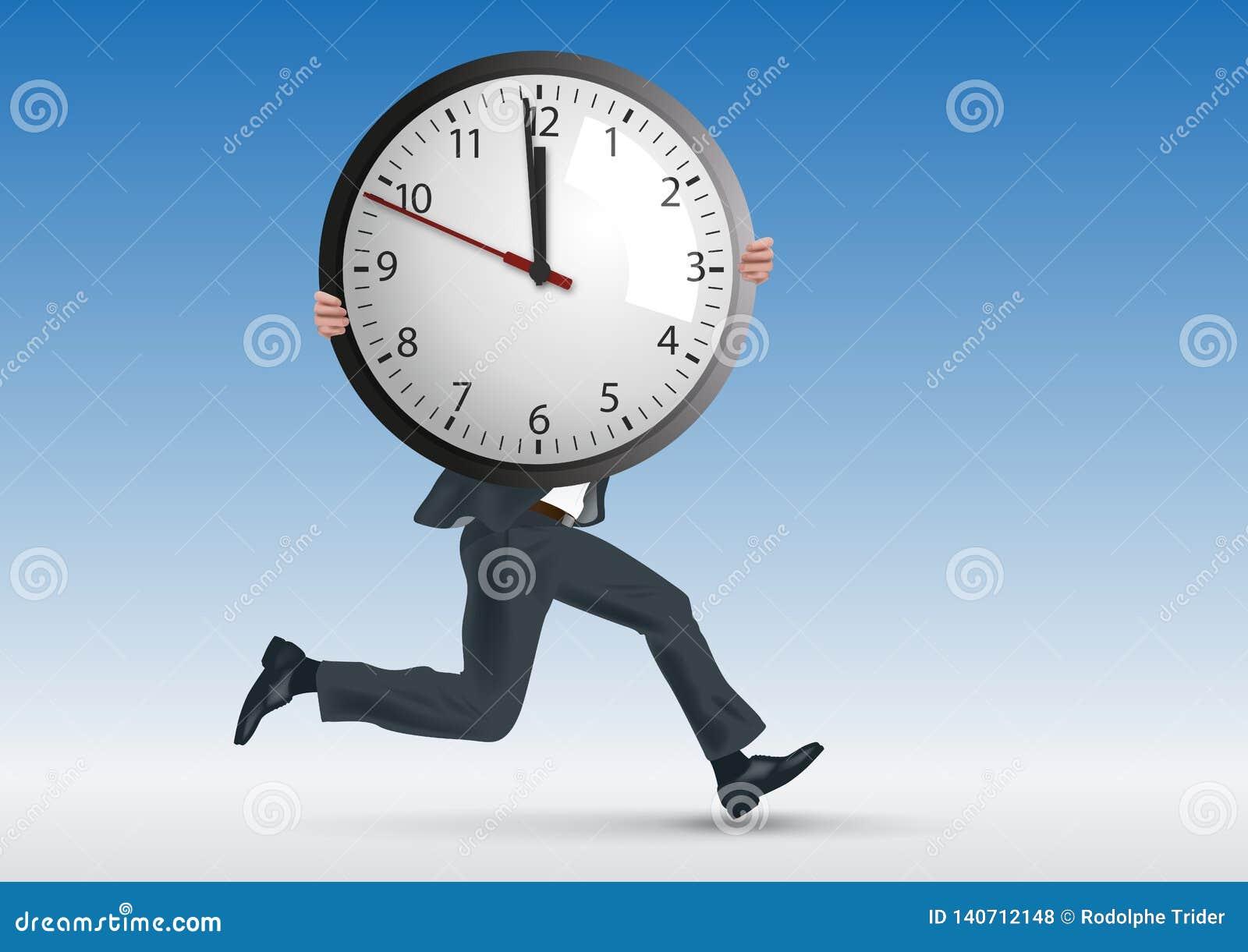 重音的概念在,与人赛跑一起使用,当象征性地运载时钟时