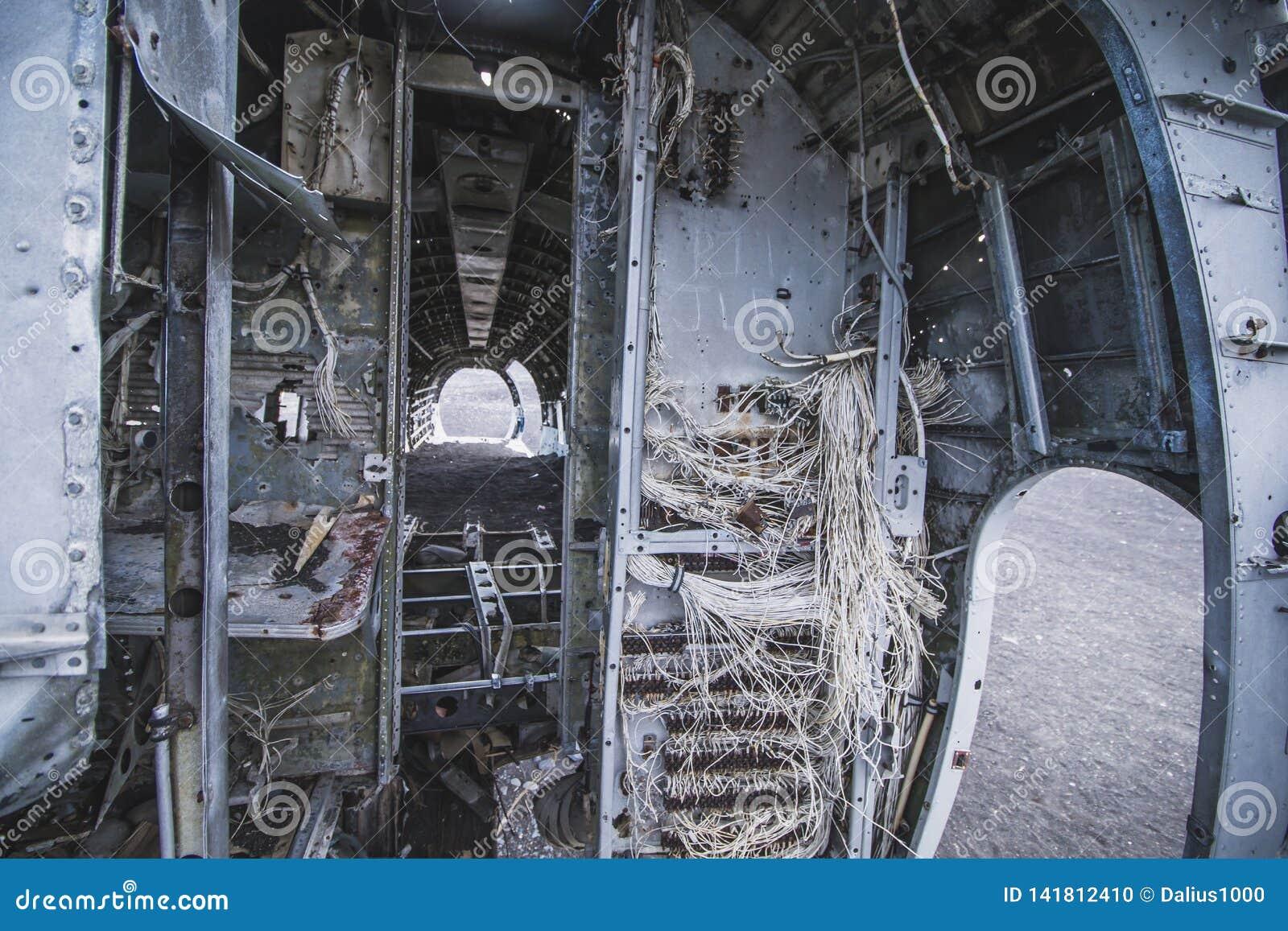 里面飞机击毁 在冰岛在夏天