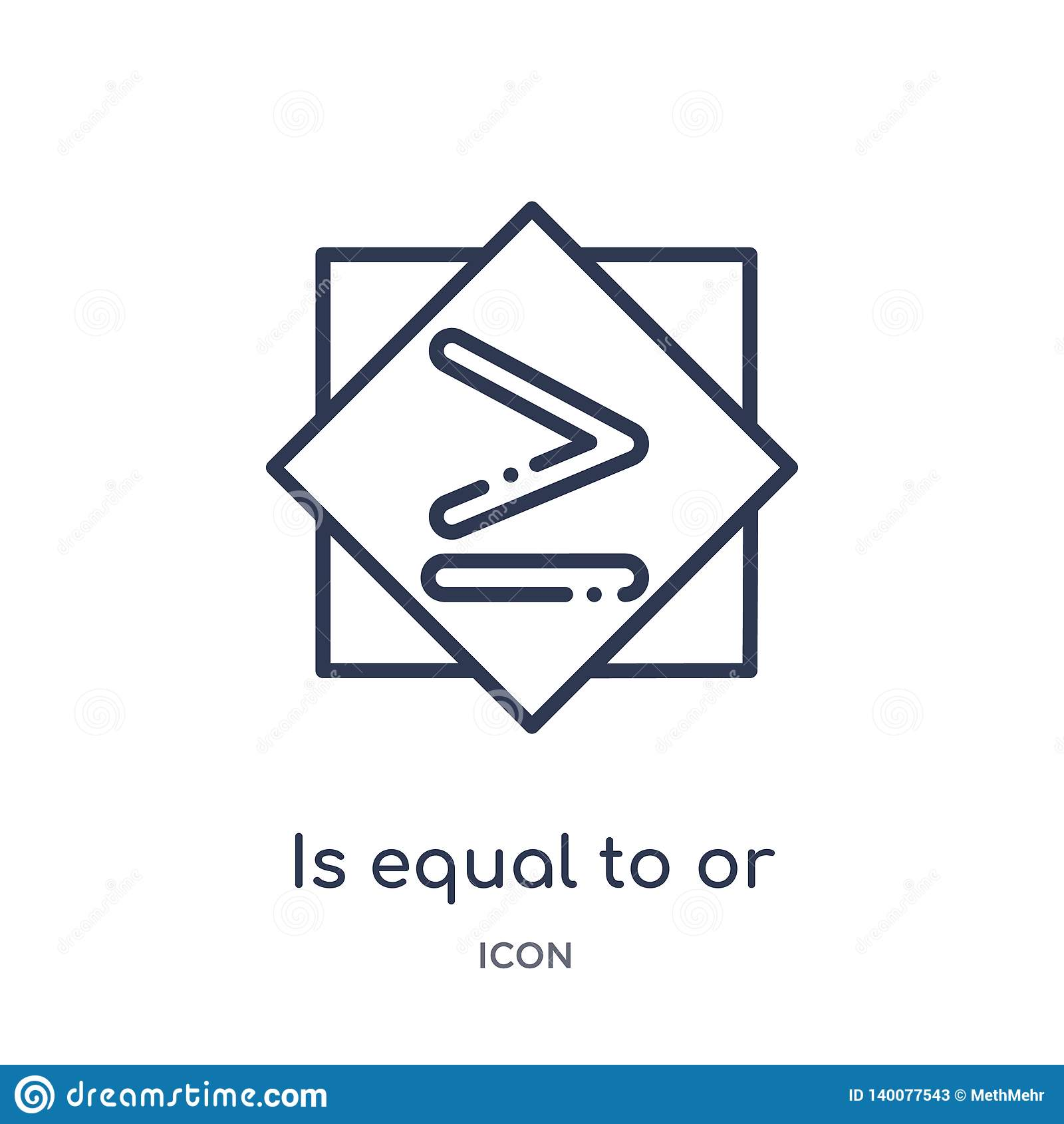 é igual ou maior do que ao ícone da coleção do esboço dos sinais A linha fina é igual ou maior do que ao ícone isolado no branco