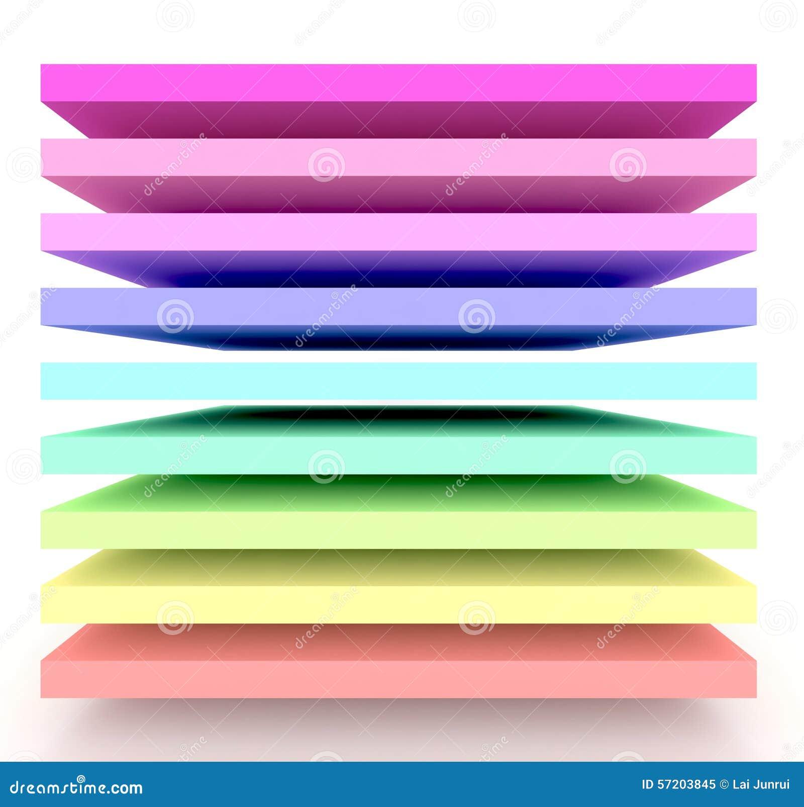 É um arco-íris 3d
