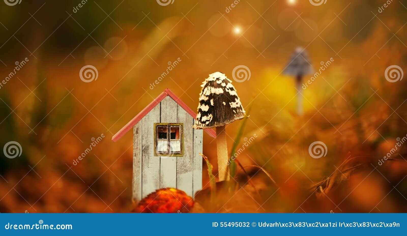 É uma casa de campo minúscula do duende