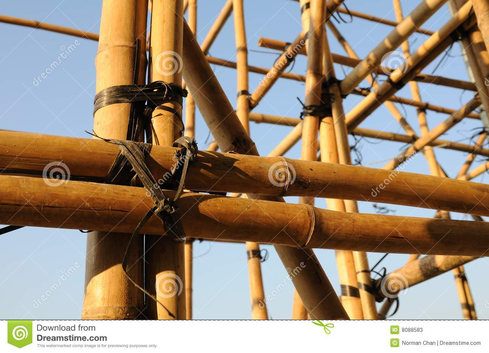 chafaudage en bambou photos stock image 8088583. Black Bedroom Furniture Sets. Home Design Ideas