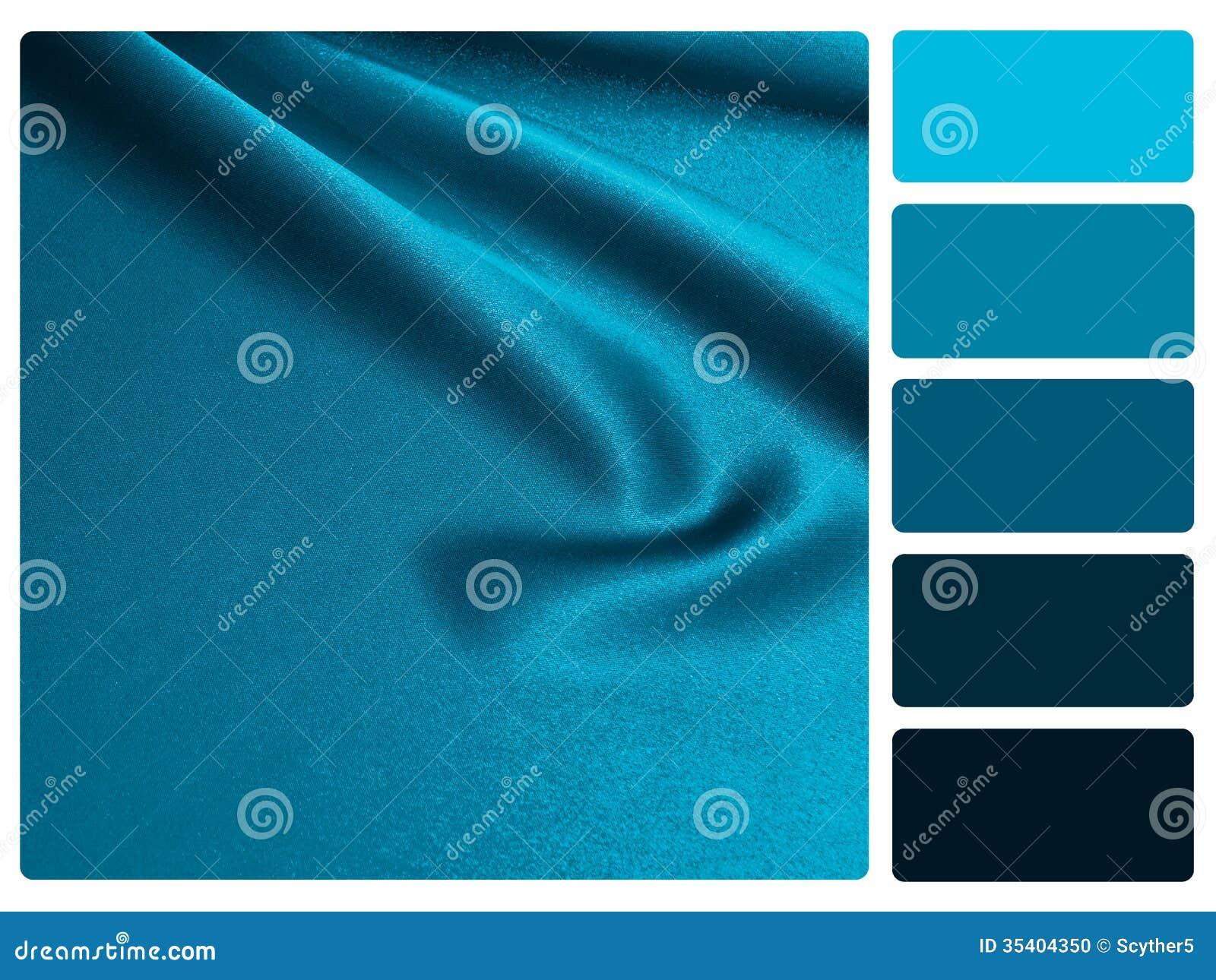 échantillon Bleu De Palette De Couleur De Satin Photo Stock Image