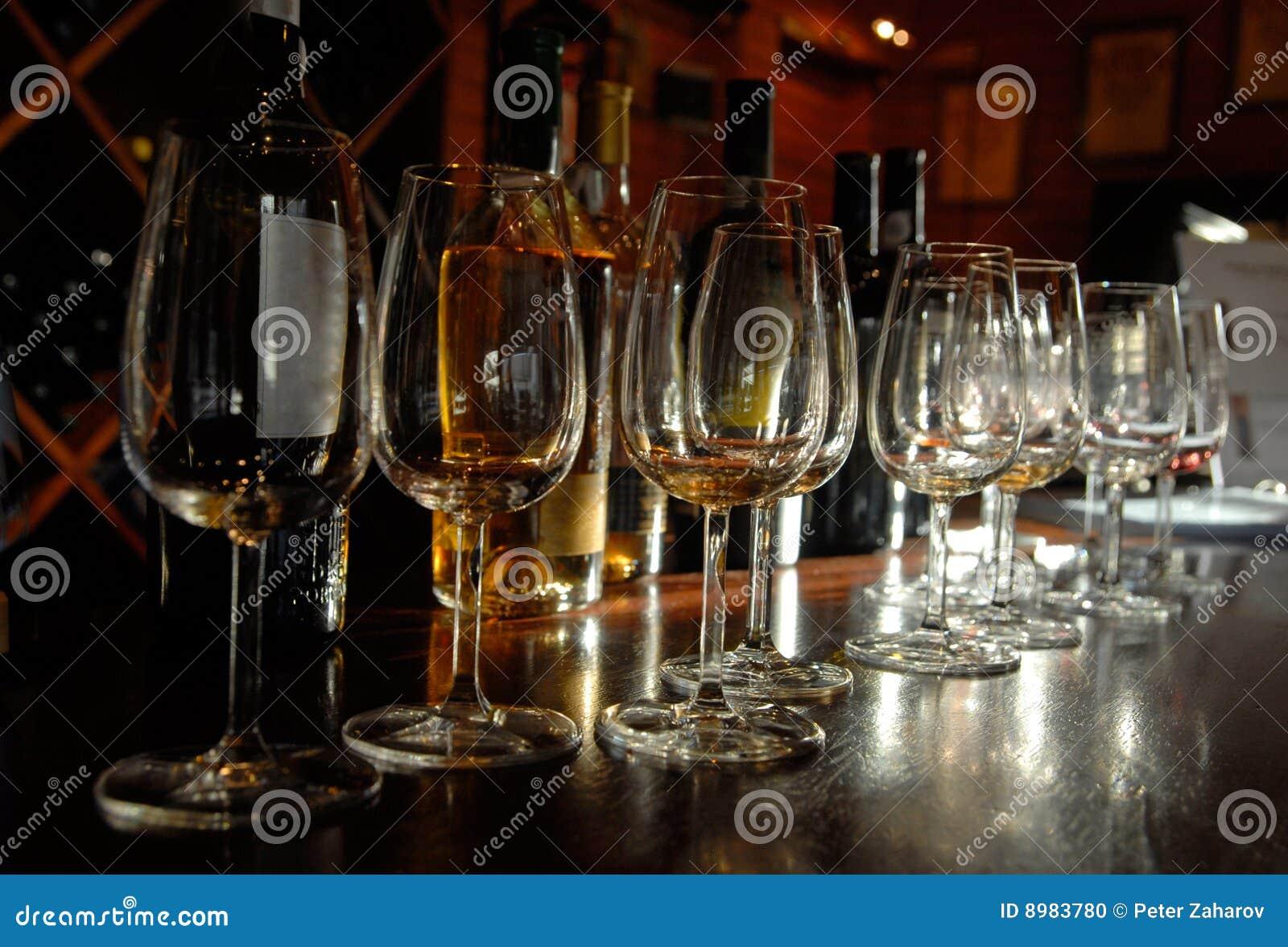 Échantillon du vin gauche, Portugal