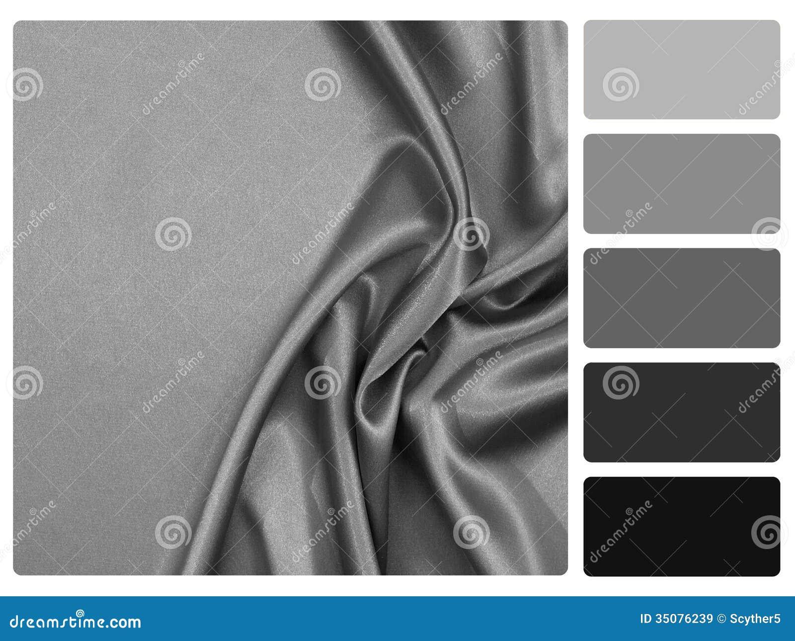 chantillon gris de palette de couleur de satin. Black Bedroom Furniture Sets. Home Design Ideas