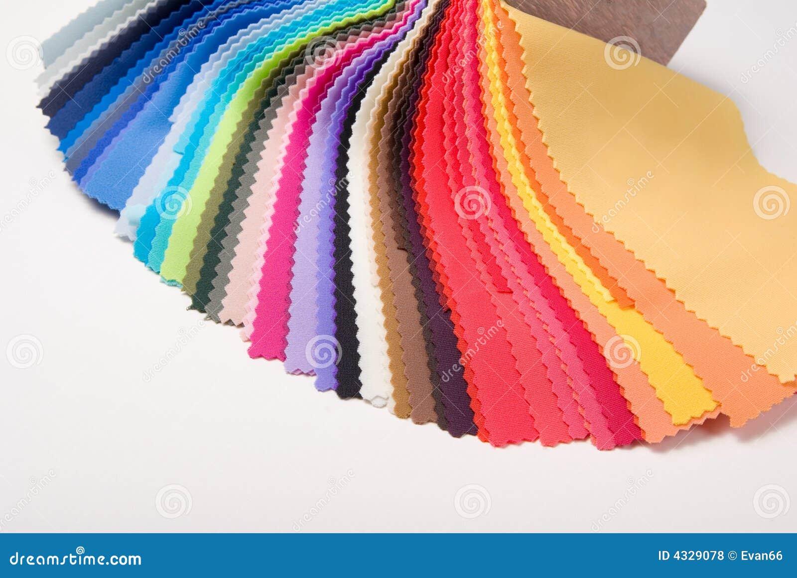 Échantillons de couleur de tissu