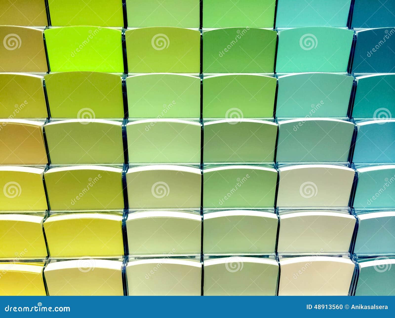 chantillons de couleur verte dans un magasin photo stock image du m moire ramassage 48913560. Black Bedroom Furniture Sets. Home Design Ideas