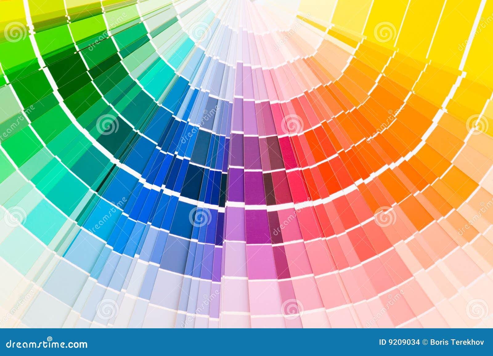 Échantillons De Guide De Couleur Photo stock   Image du en, rouge