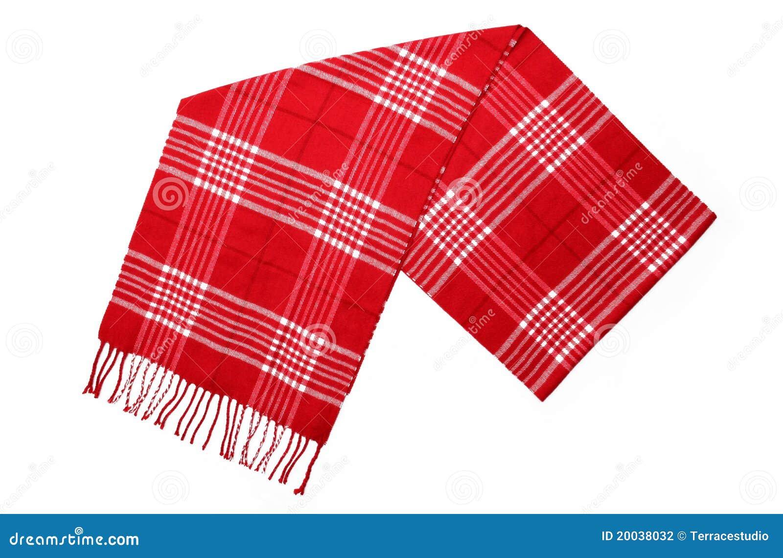 Écharpe rouge de plaid de laines unisexes de cachemire
