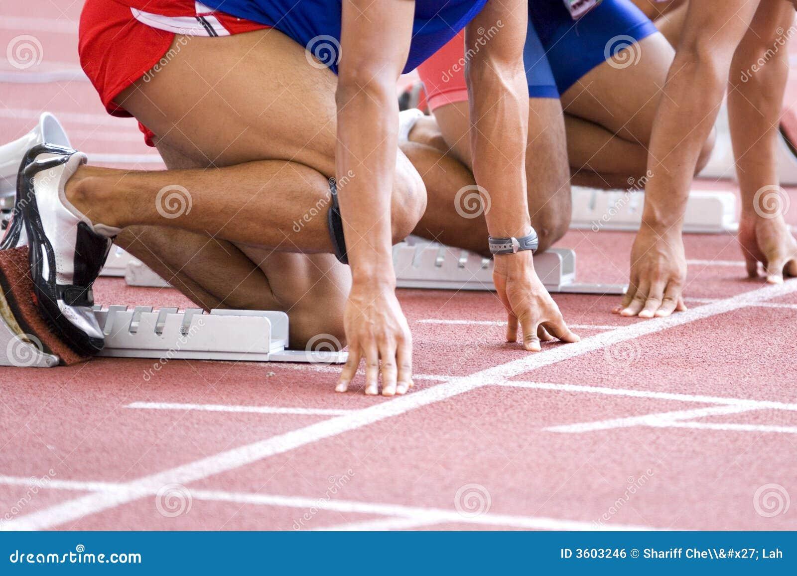 Échauffement d athlètes