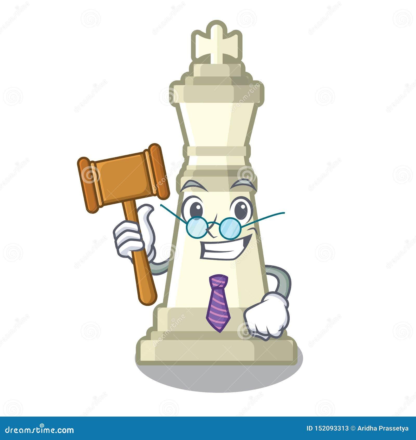 Échecs de roi de juge dans la forme de bande dessinée