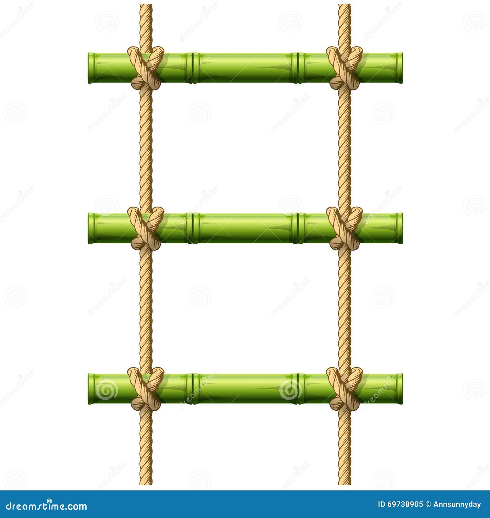 chelle de corde en bambou illustration de vecteur image. Black Bedroom Furniture Sets. Home Design Ideas