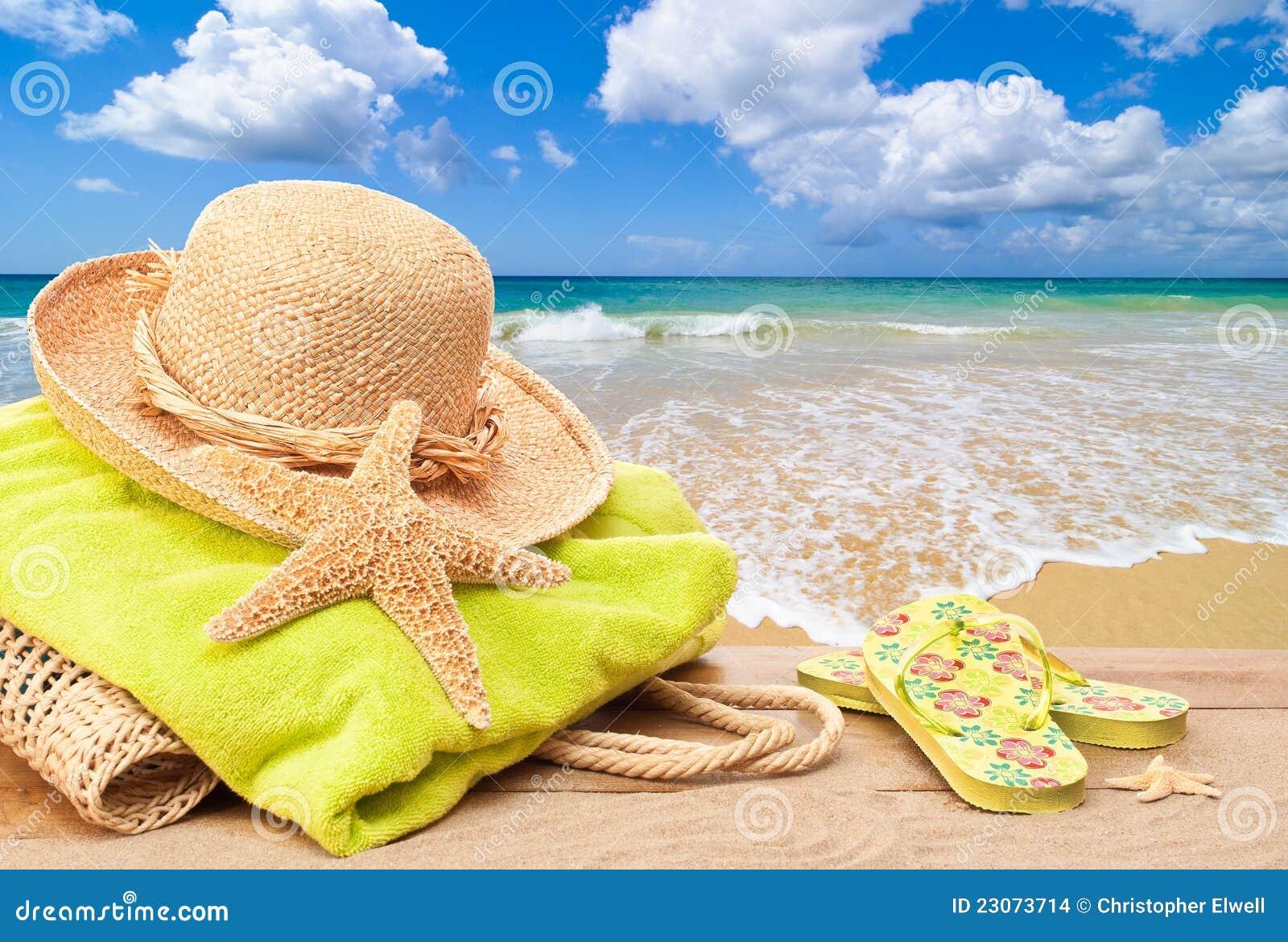 Échouez le sac avec le chapeau de Sun