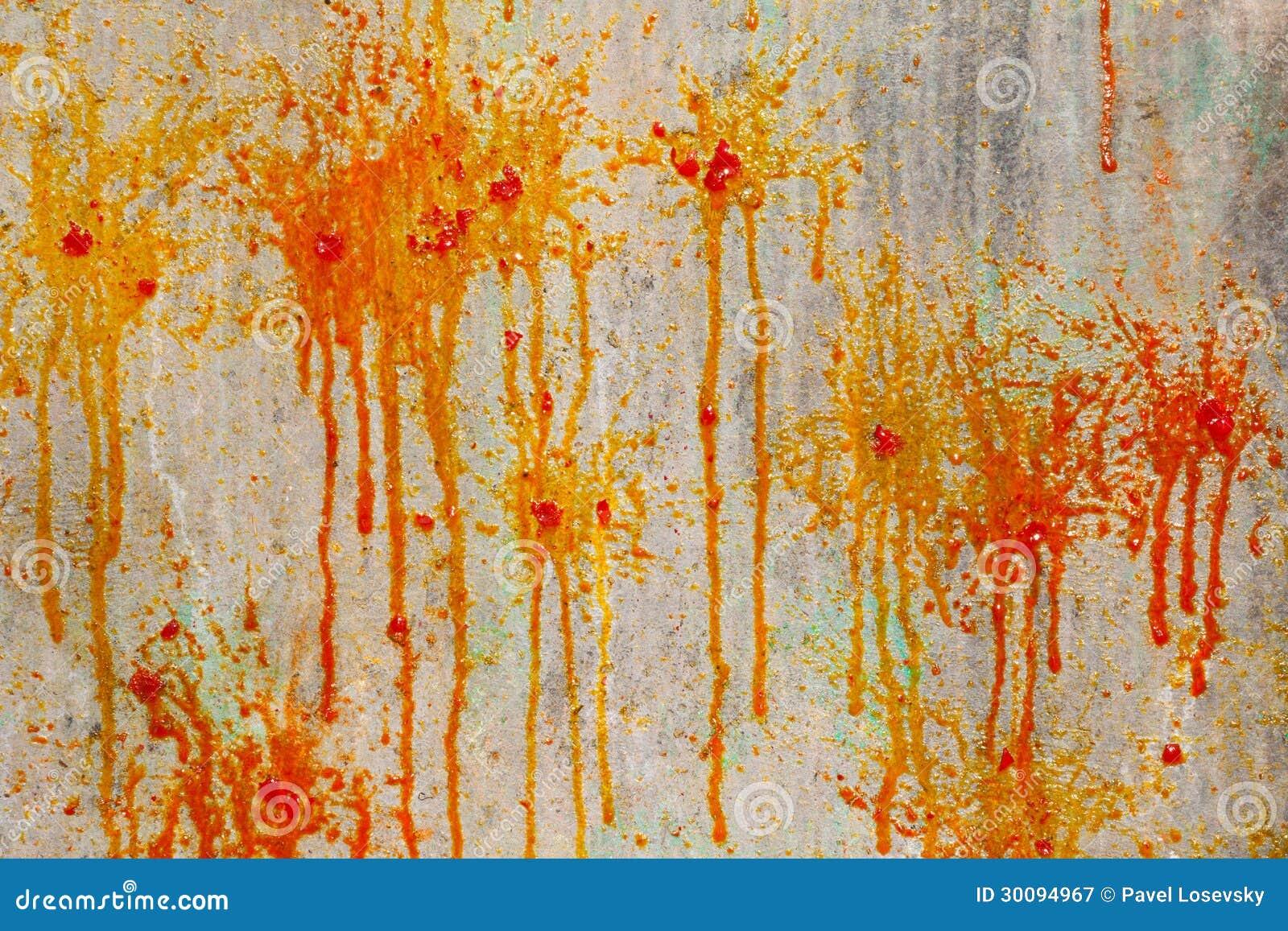 Clabousse et des taches de peinture sur le mur photographie stock libre de droits image 30094967 - Droit locataire peinture murs ...