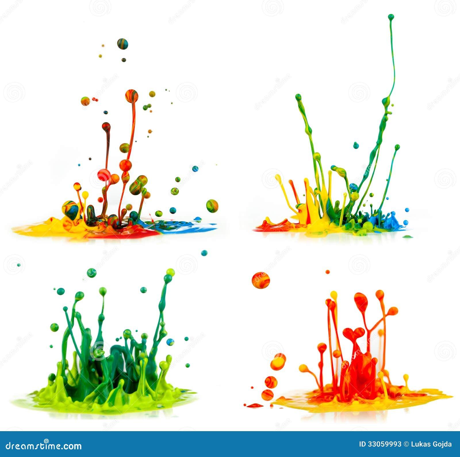 Peinture Sur M Lamin Blanc Claboussement Color De