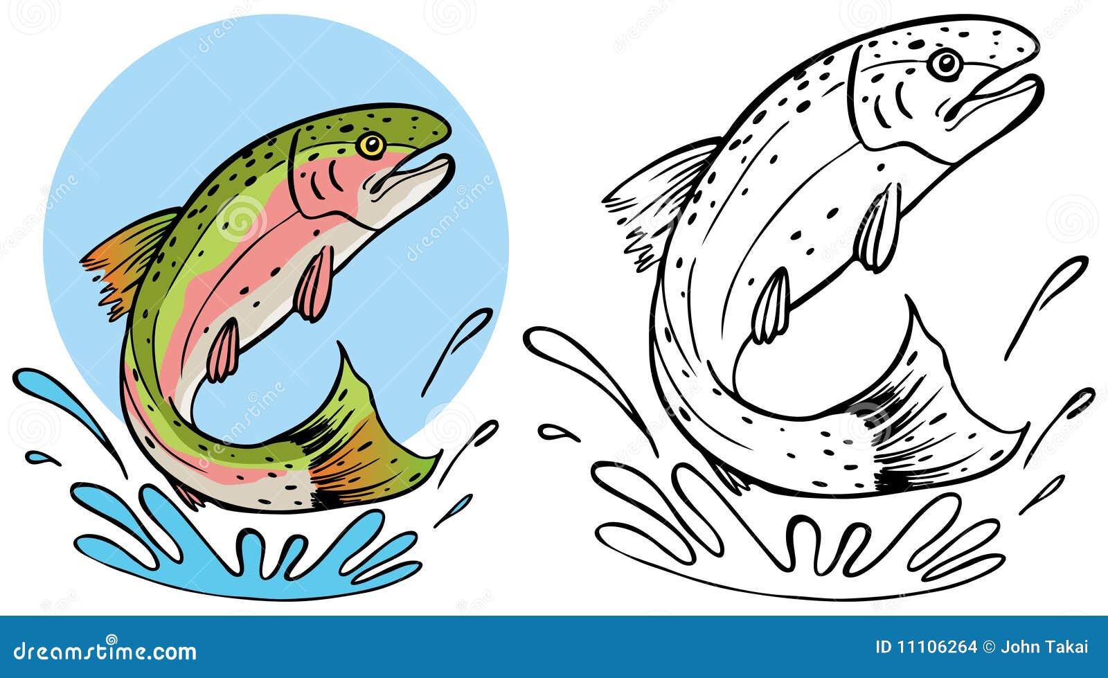 Claboussement de truite illustration de vecteur - Dessin truite ...