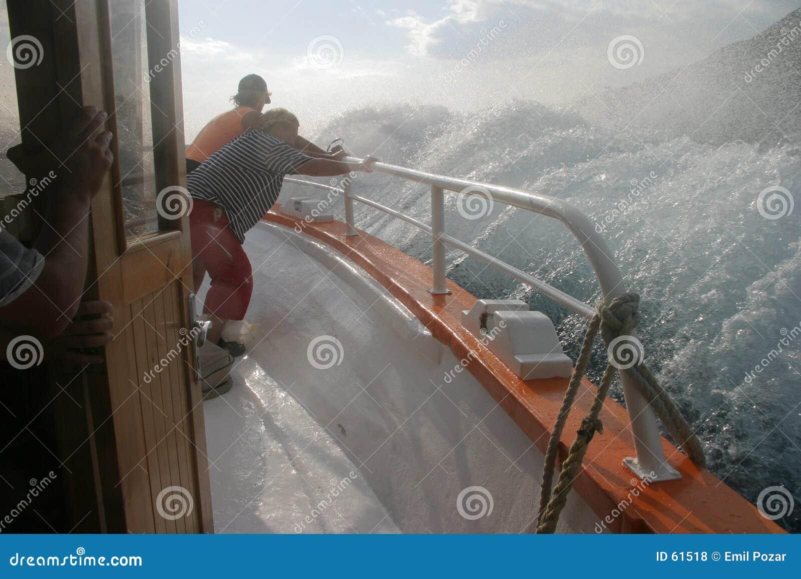 Éclaboussement du bateau