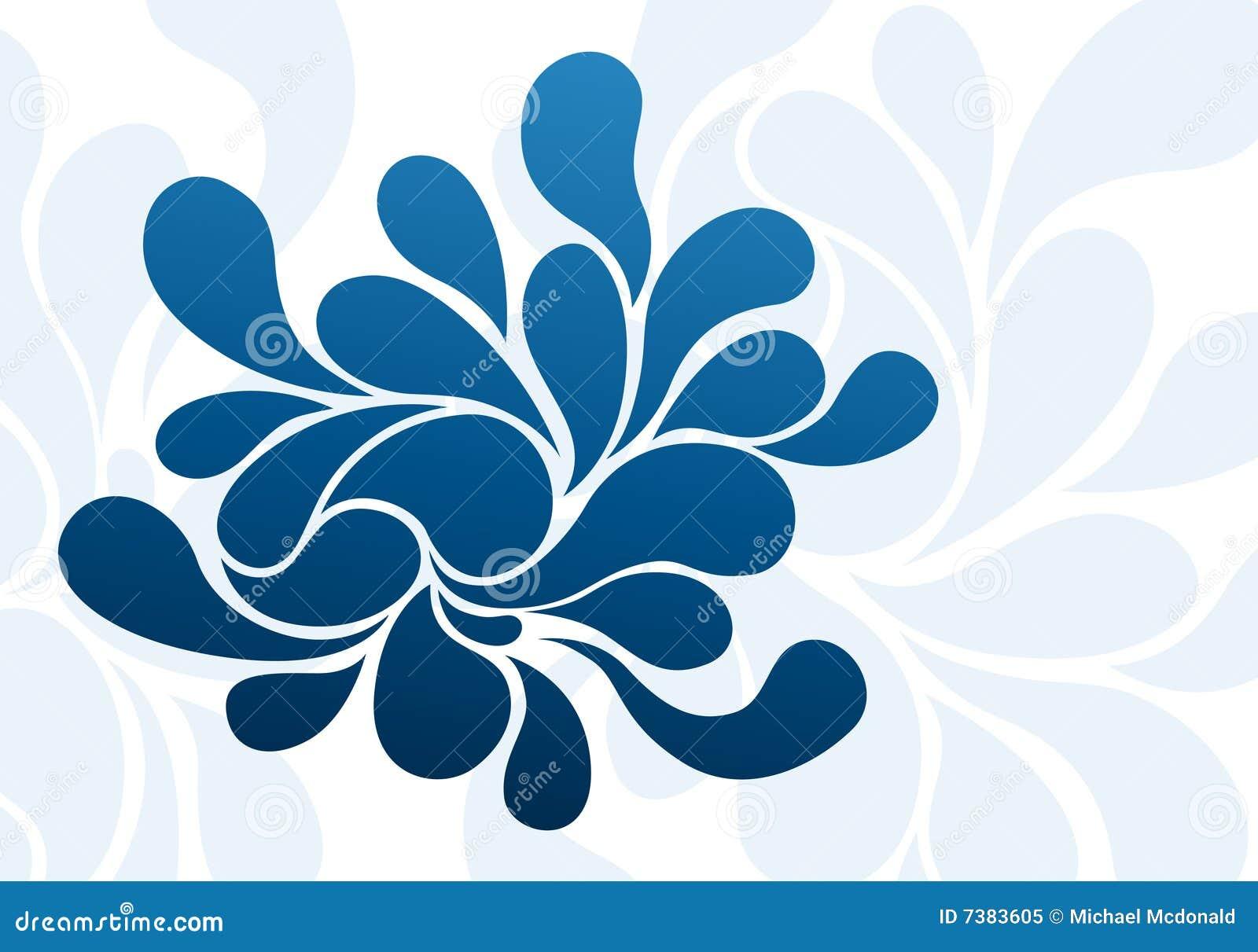 éclaboussure bleue de fond