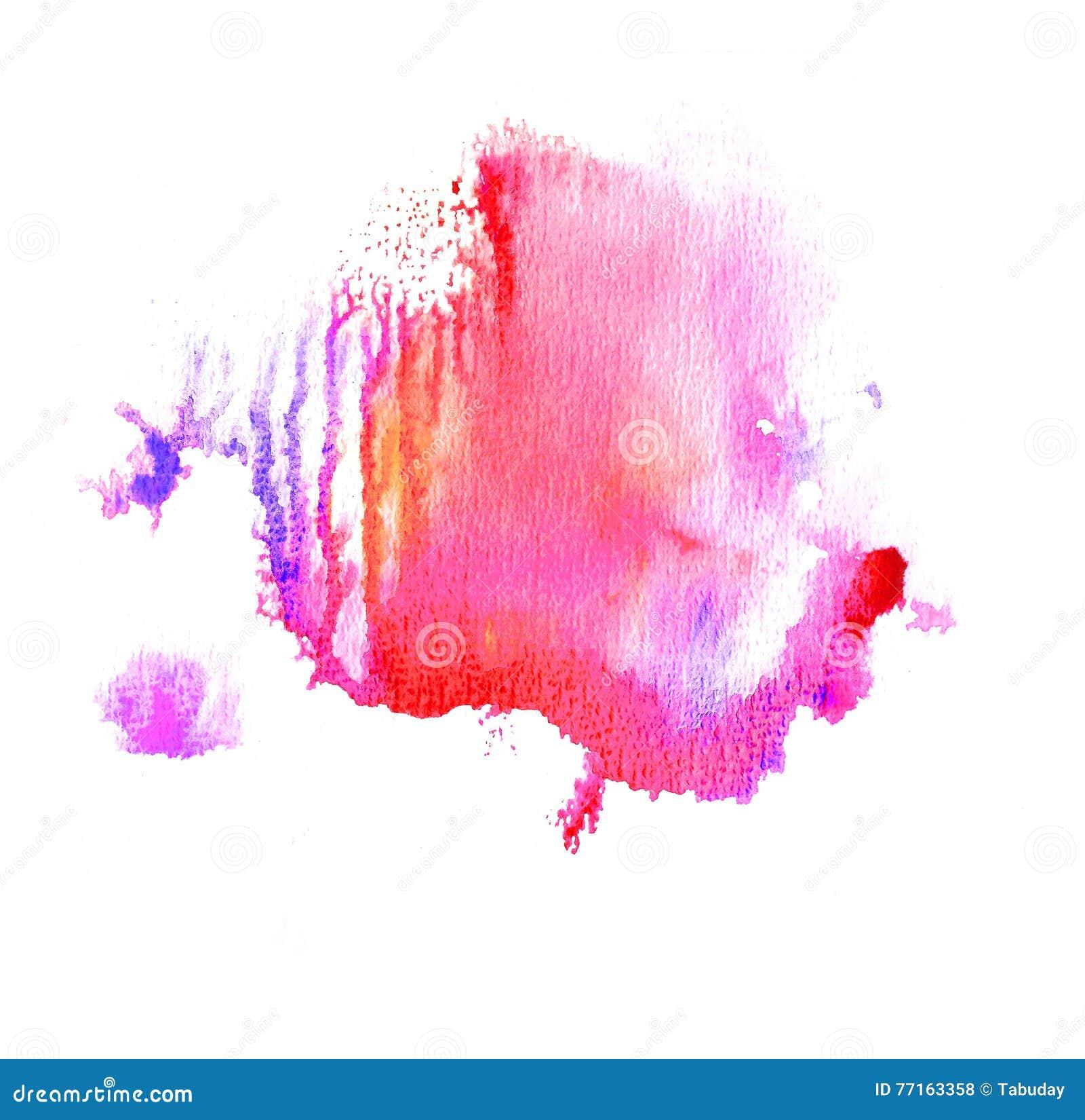Éclaboussure colorée d aquarelle