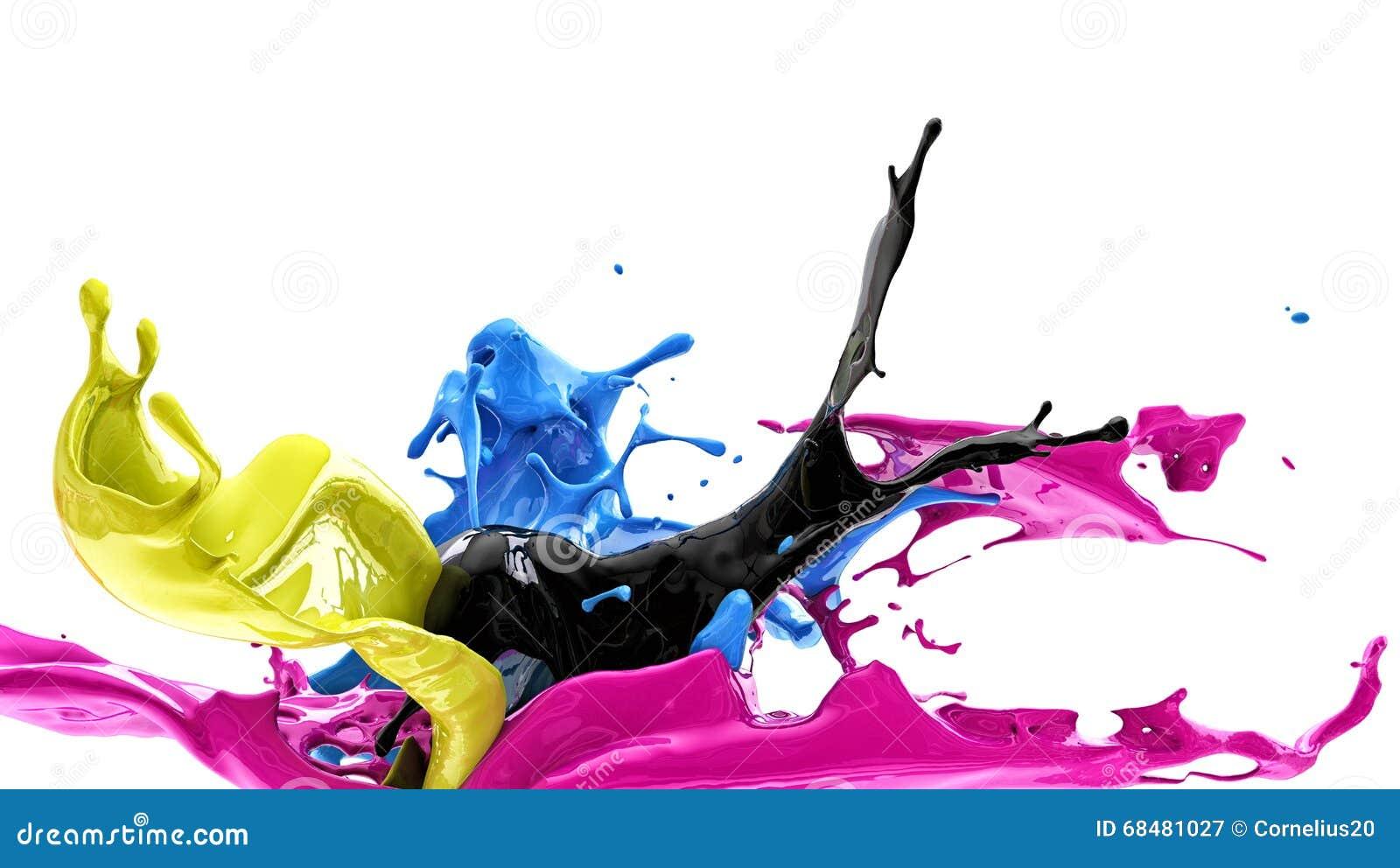 Éclaboussure de couleur, cmyk