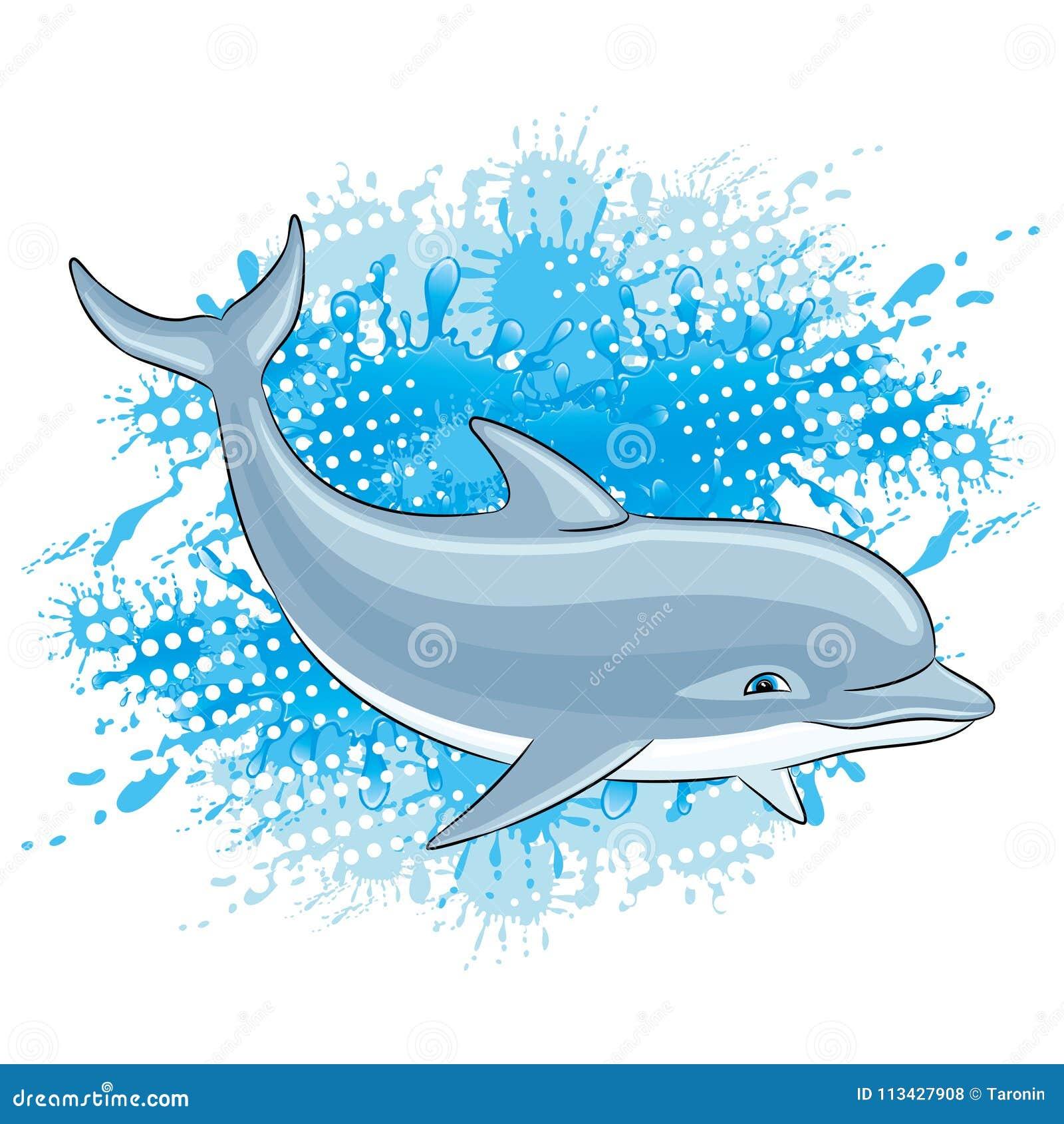 Éclaboussure de dauphin et d eau