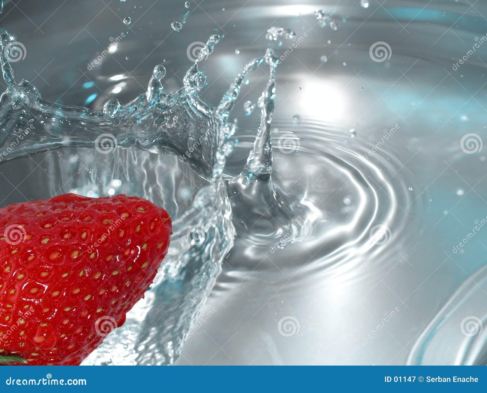 Éclaboussure de fraise