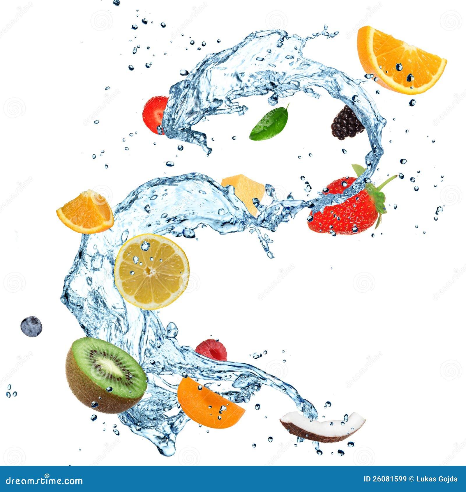 Éclaboussure de l eau de fruit