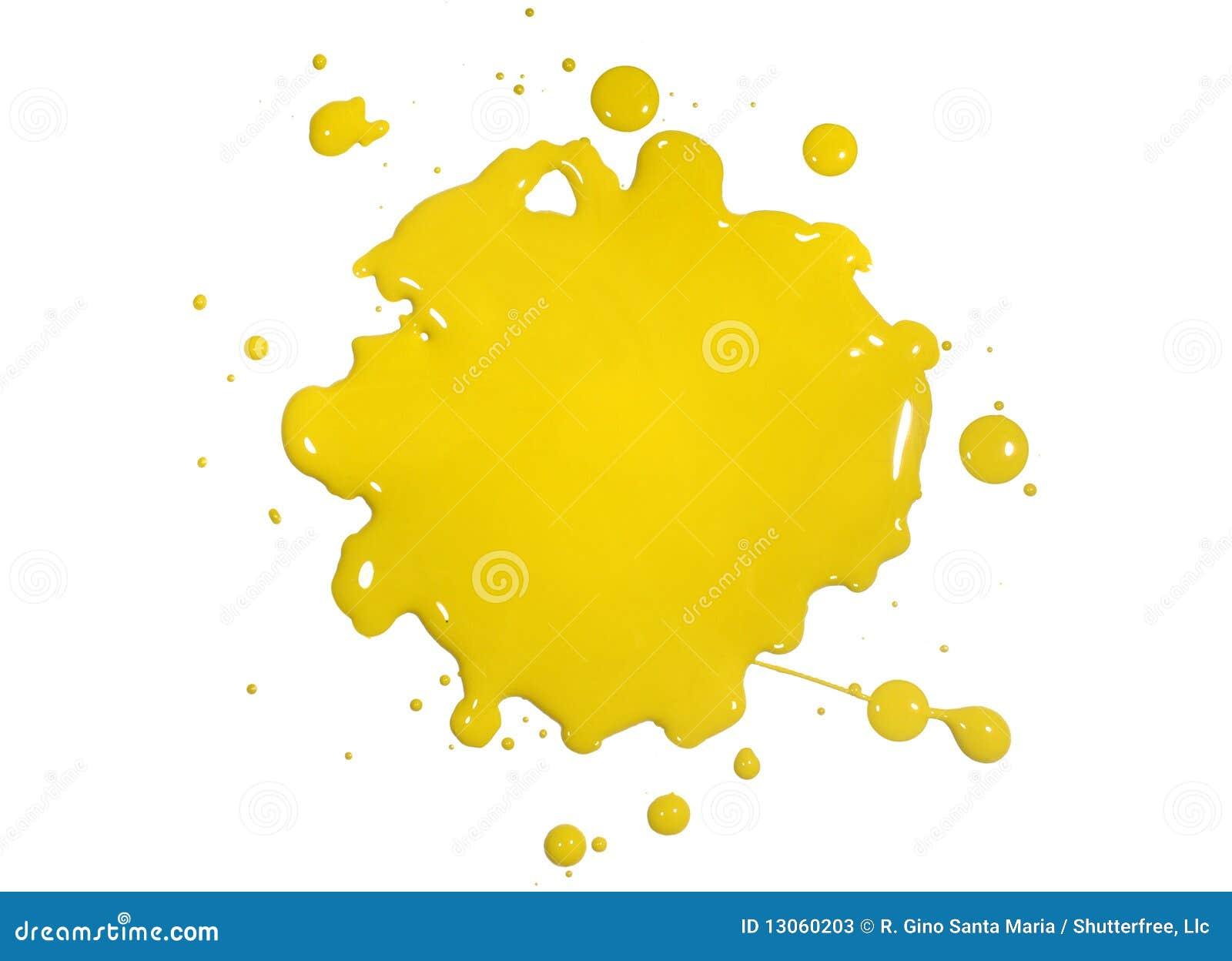 Éclaboussure jaune de peinture