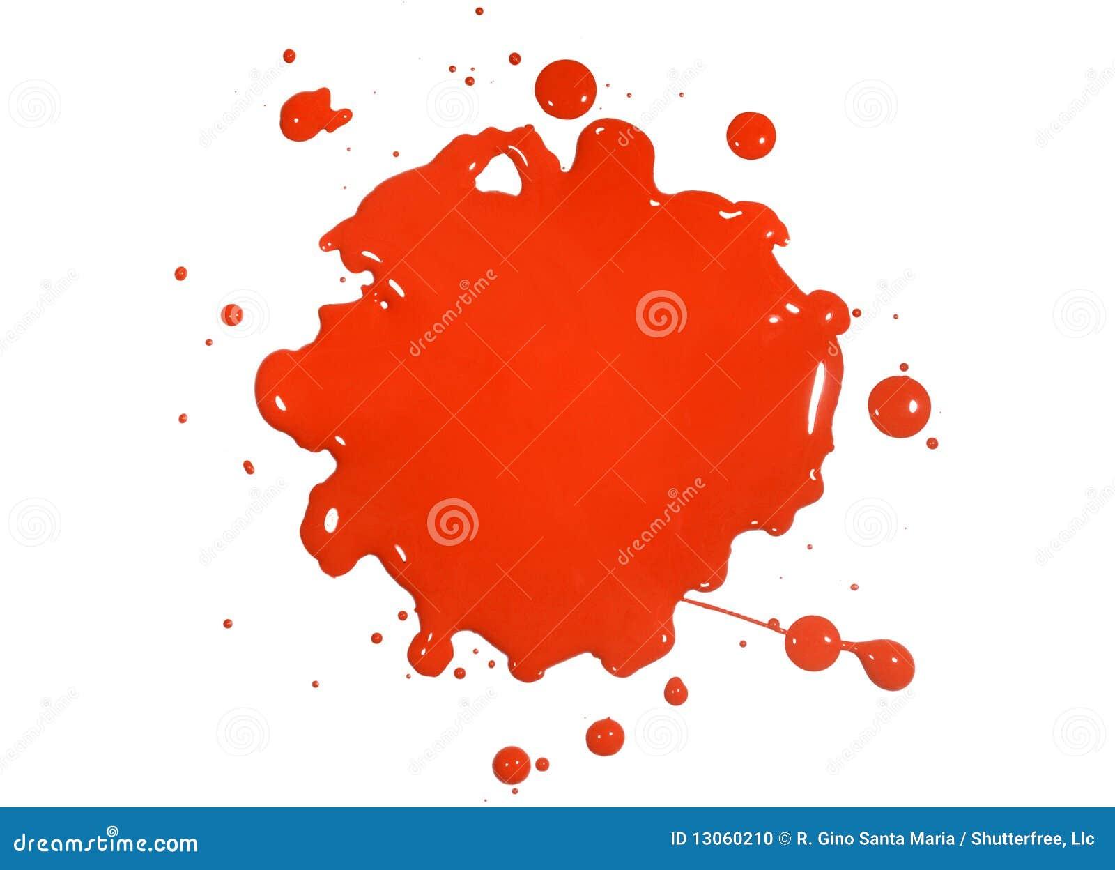 Éclaboussure rouge de peinture