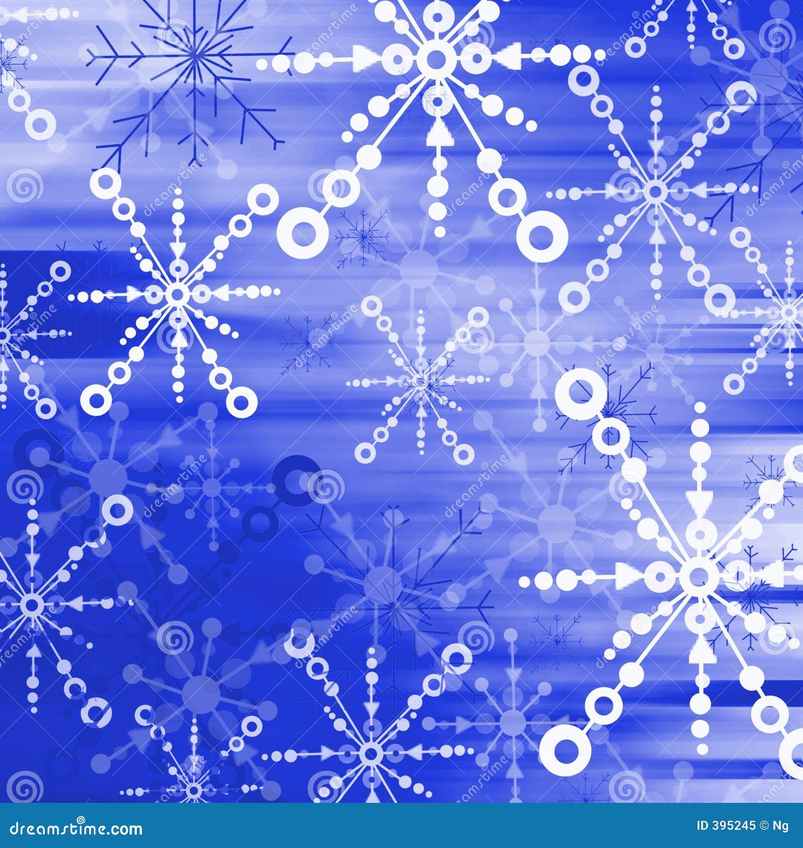 Éclailles bleues 02 de neige