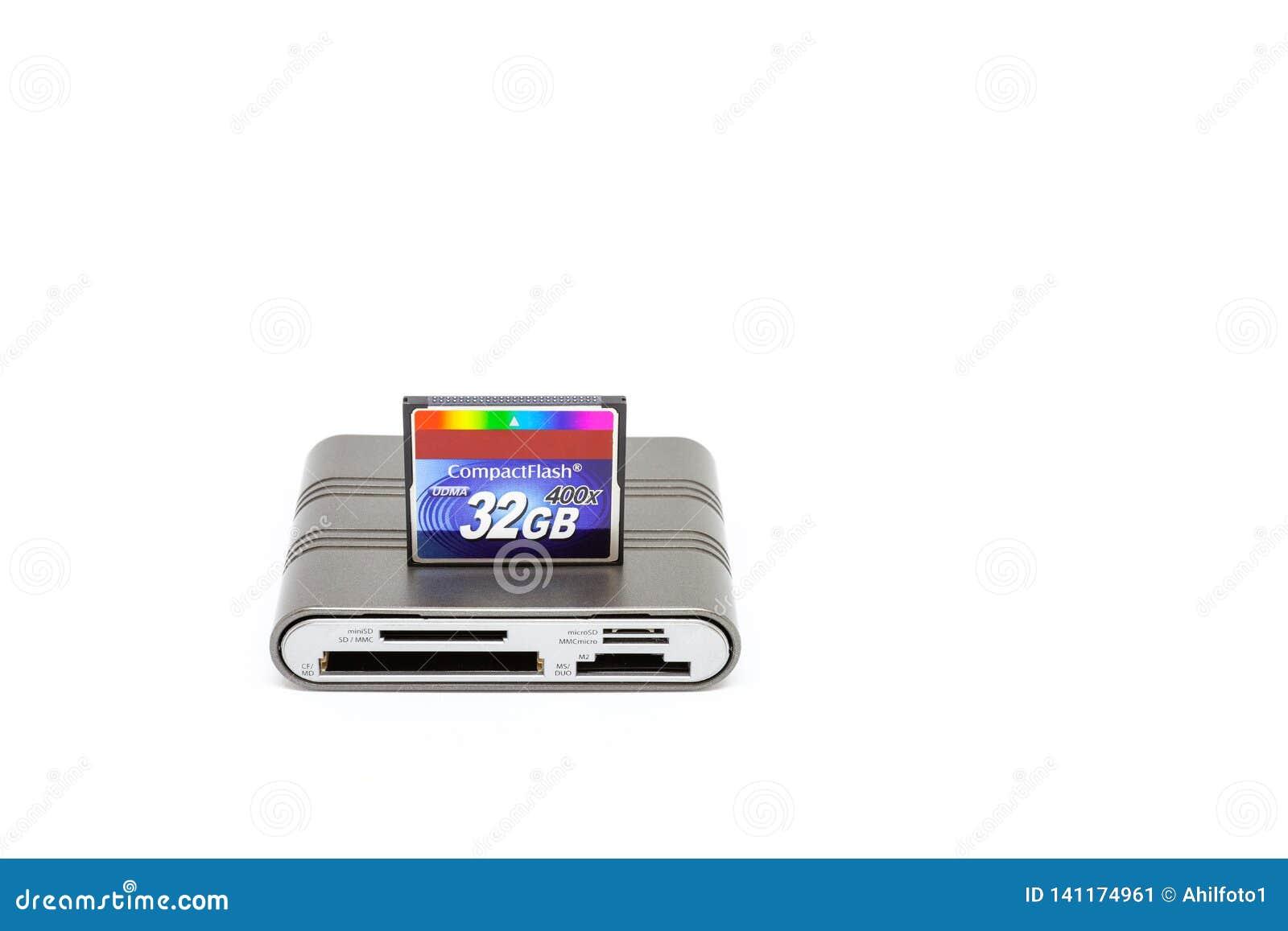 Éclair compact de lecteur de cartes d Usb et de carte de mémoire 32 gigaoctets