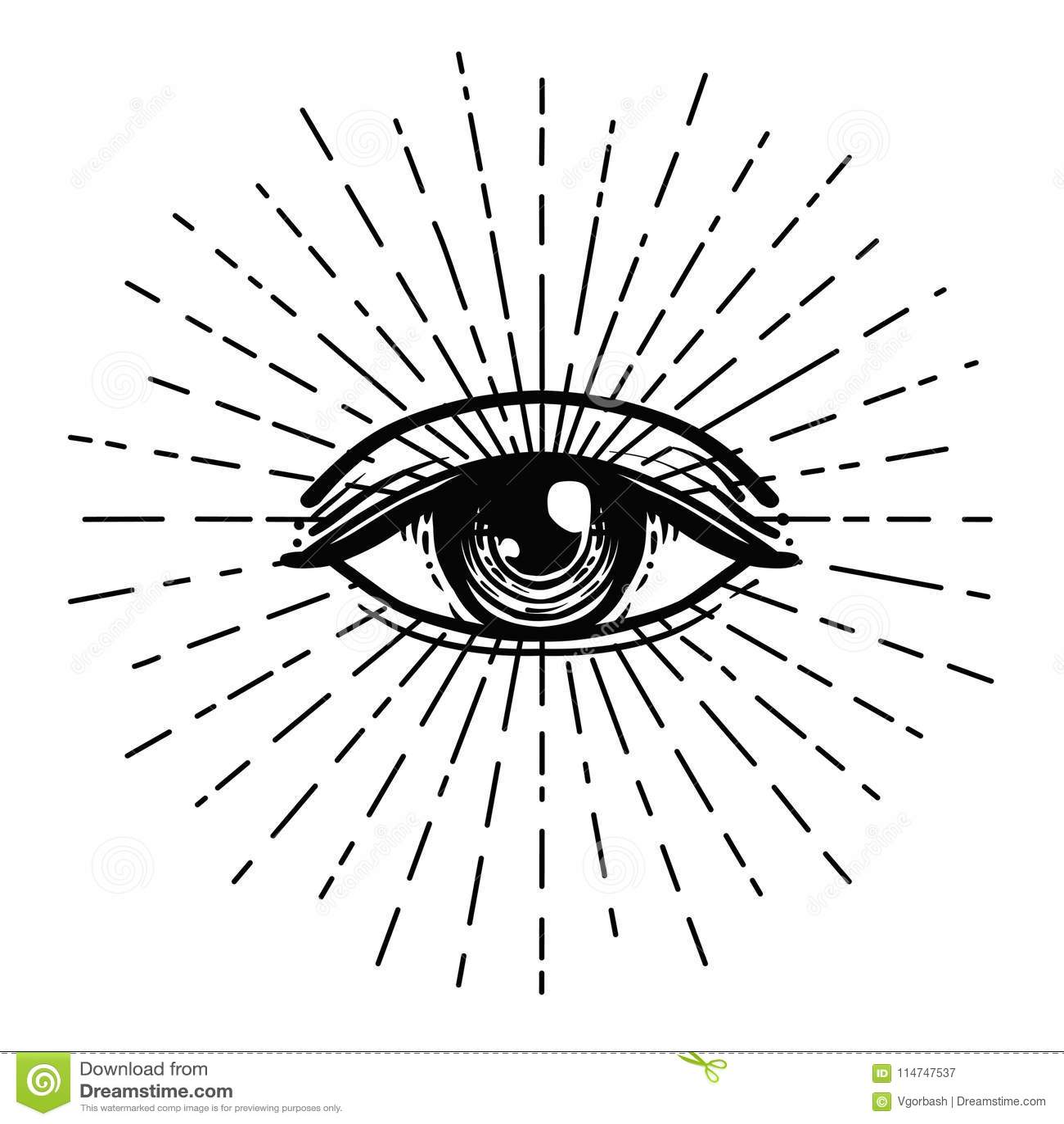Eclair De Tatouage Oeil De Providence Symbole Maconnique Tout L Oeil