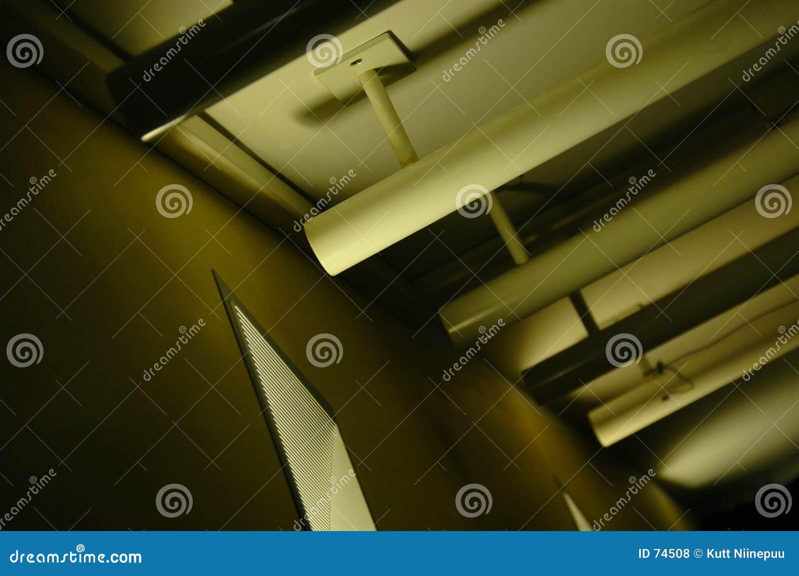 Éclairage abstrait de plafond