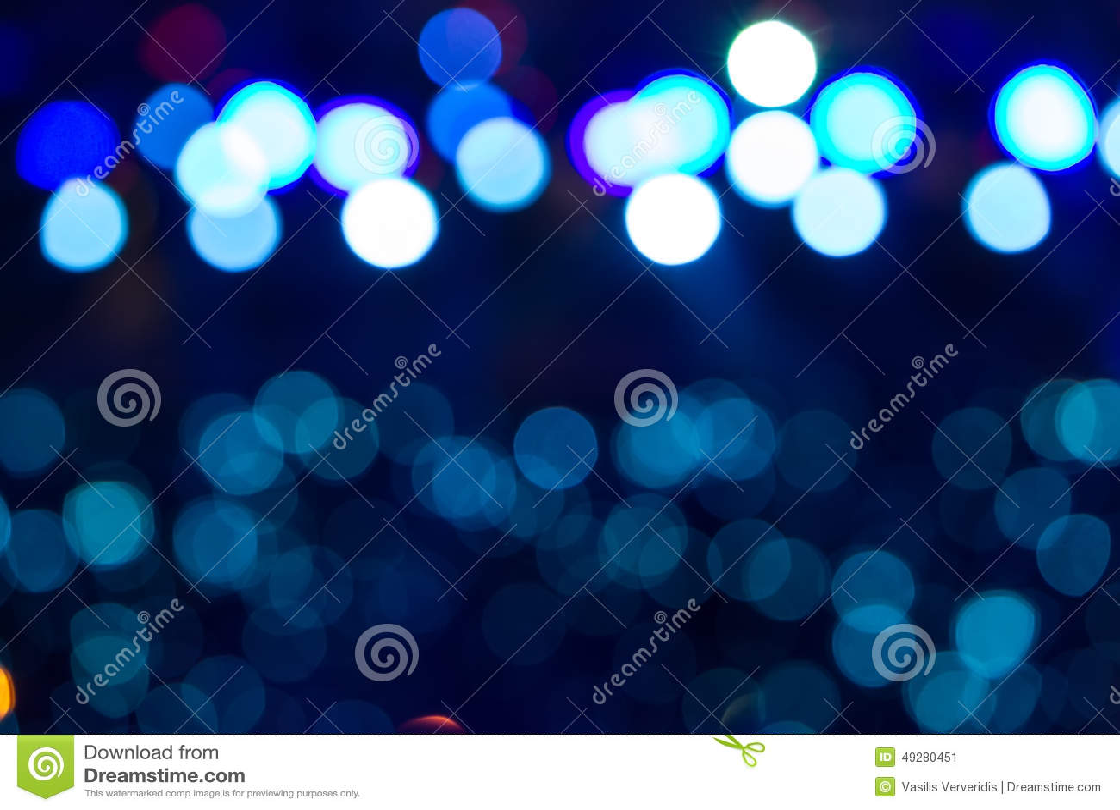 Éclairage Defocused de concert de divertissement sur l étape, bokeh
