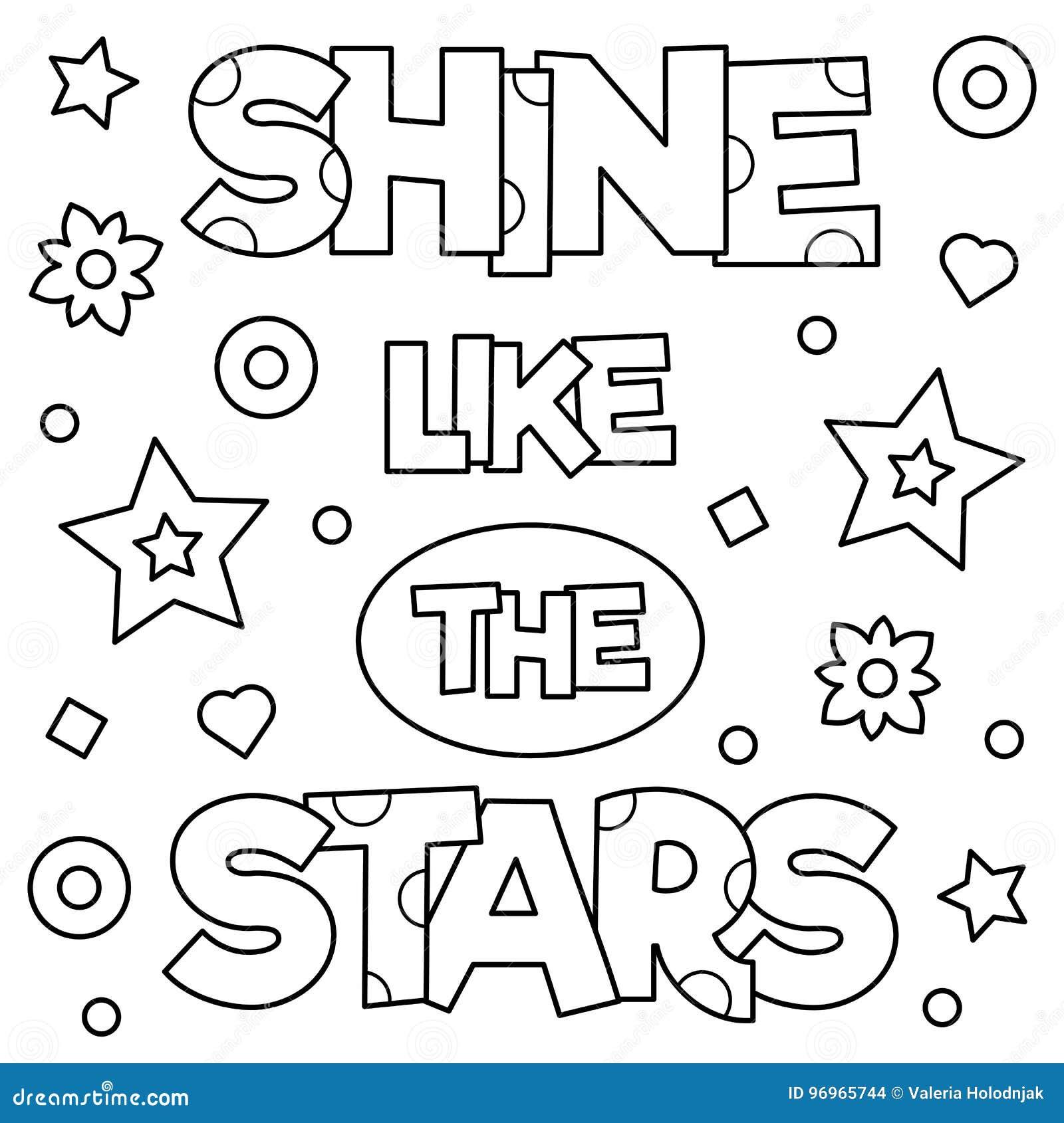 Éclat comme les étoiles Page de coloration Illustration de vecteur