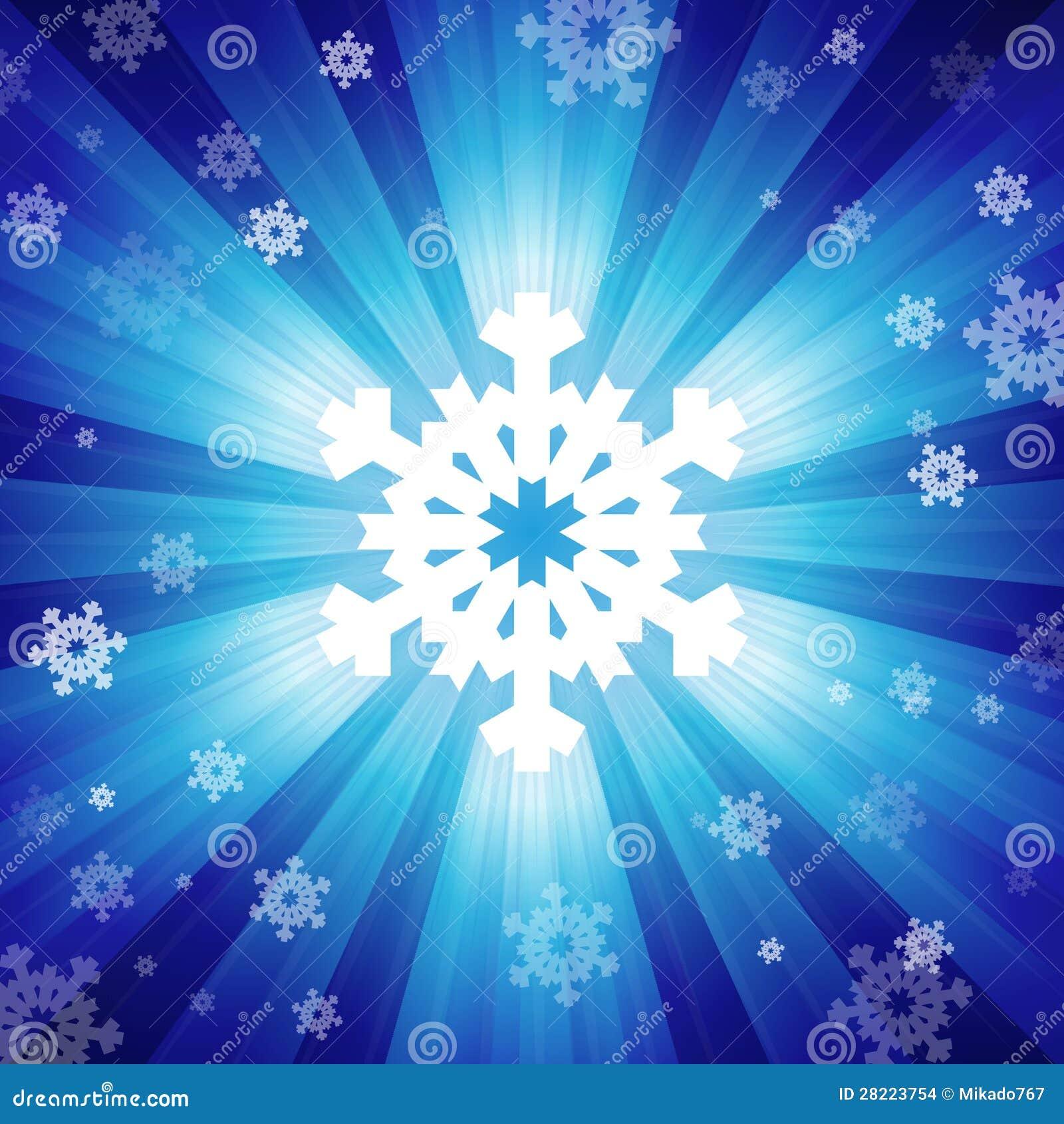 Clat de couleur bleu de lumi re avec des flocons de neige images stock ima - Couleur avec le bleu ...