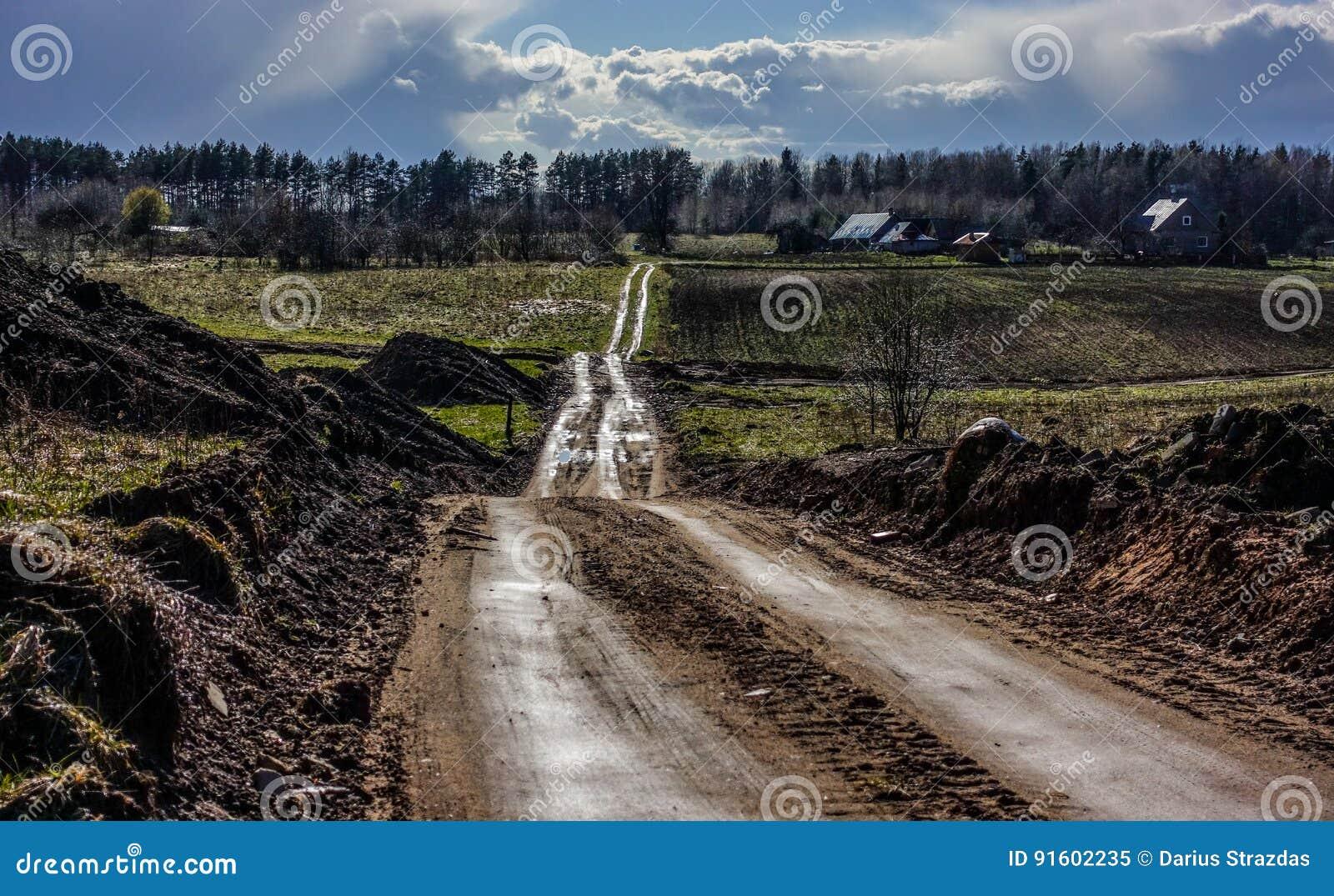 Éclat rural de route