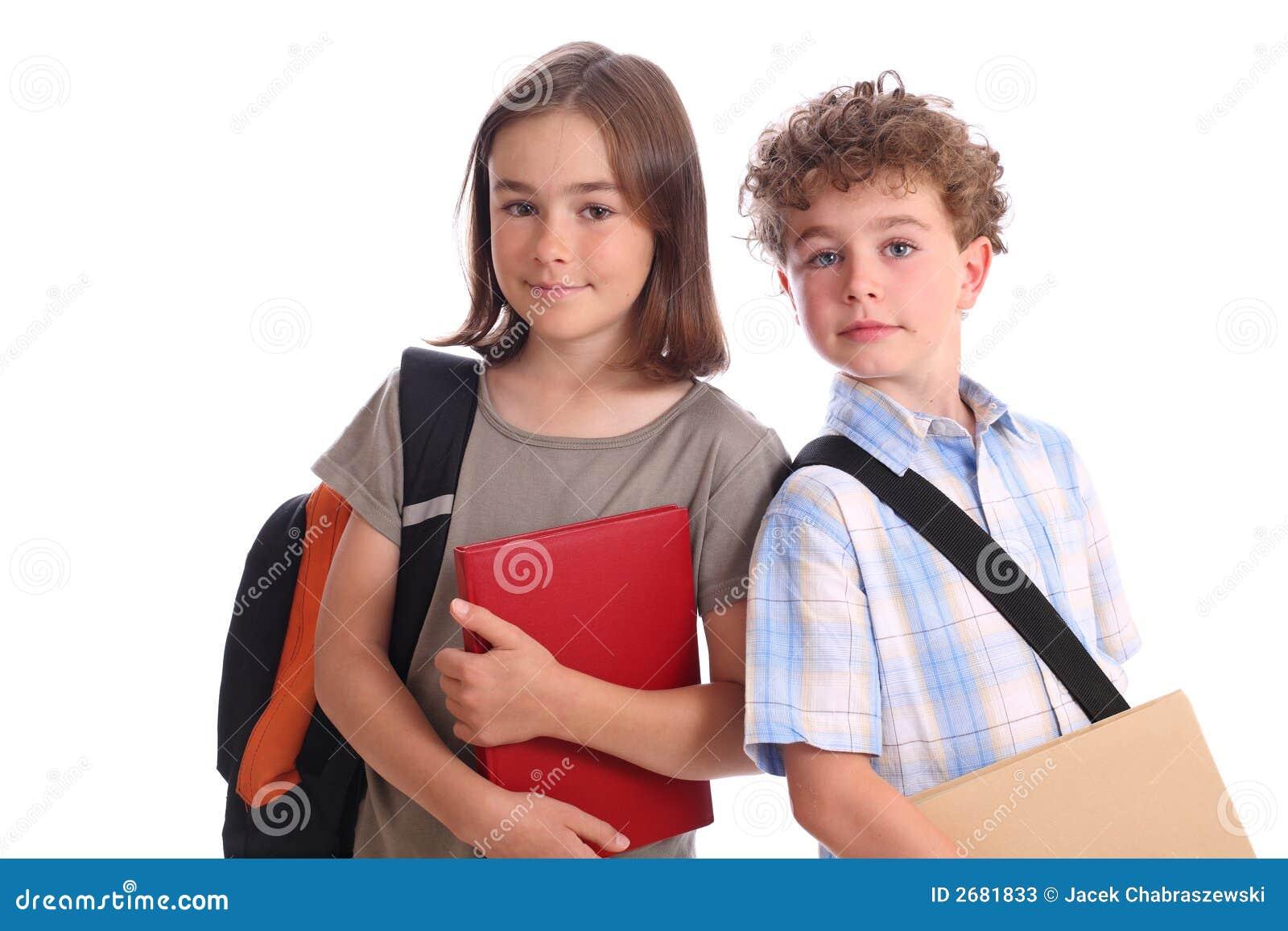 Ecolier écolière d'écolier image stock. image du apprenez, mignon - 2681833