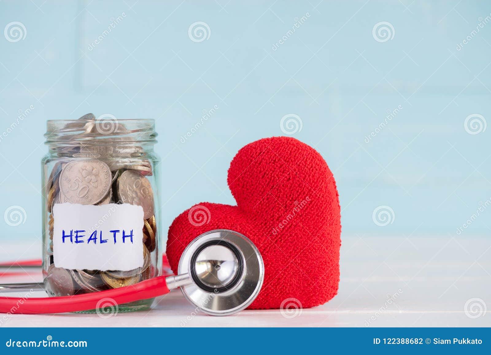 Économie d argent et concept de soins de santé