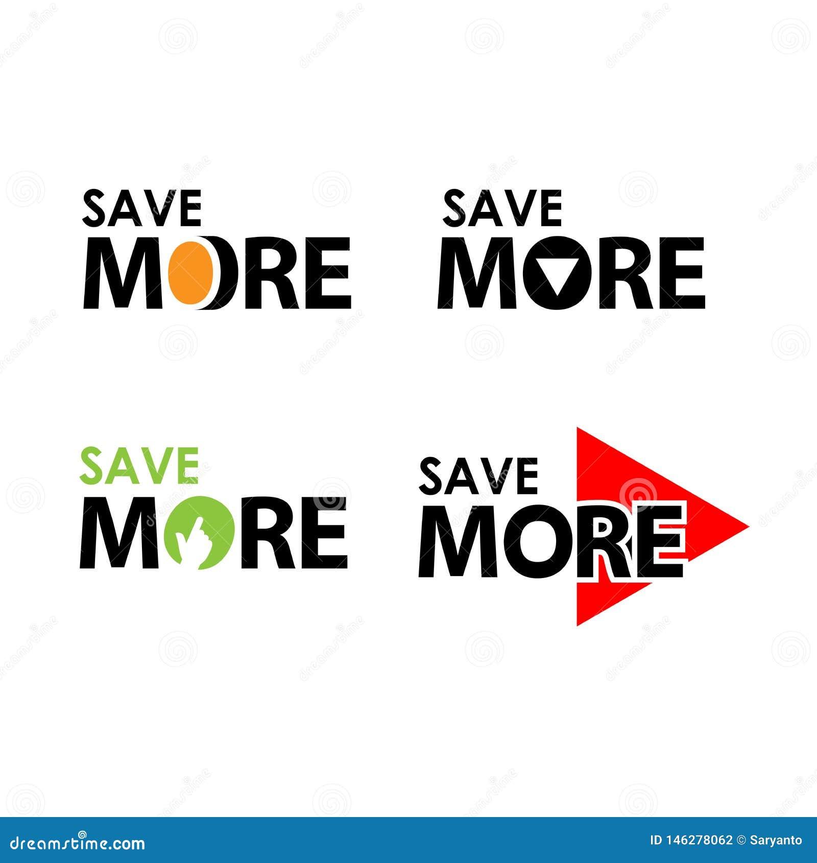 Économisez davantage Illustration cr?ative de vecteur de lettrage Illustration dans le format de vecteur