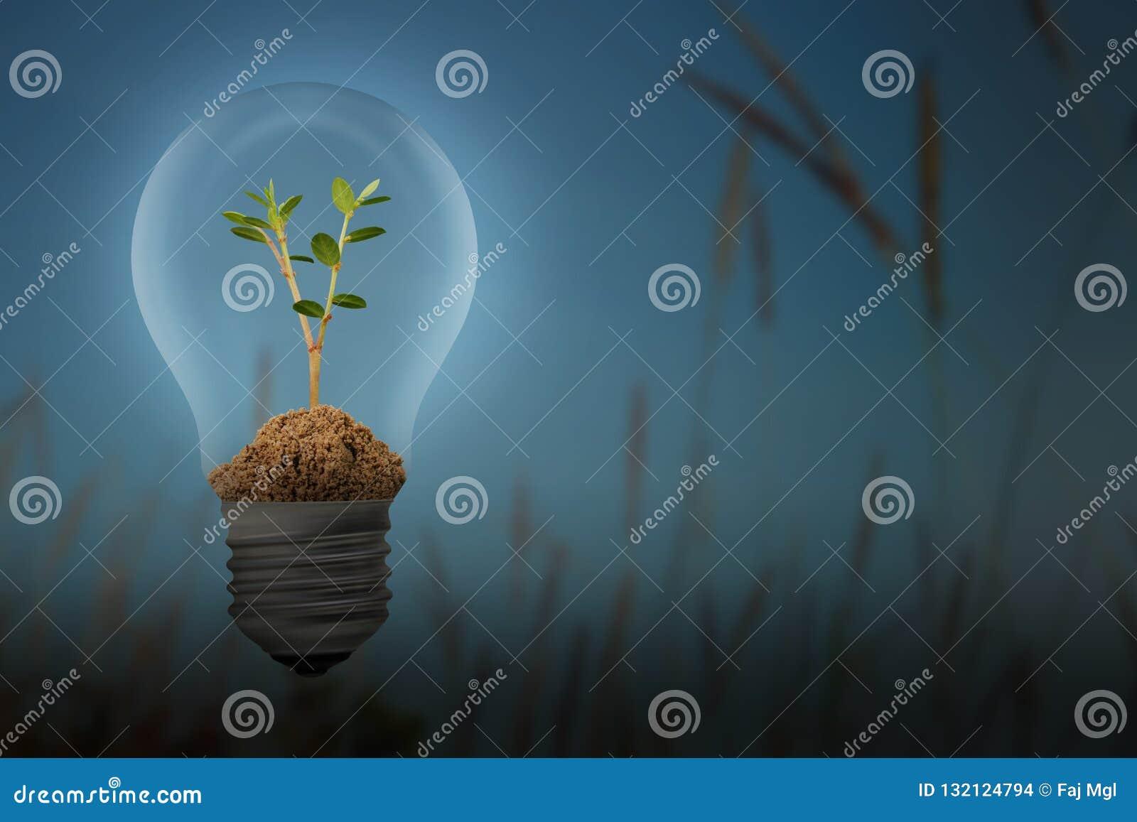 Économisez l énergie avec le concept d ampoule de lampe et d usine