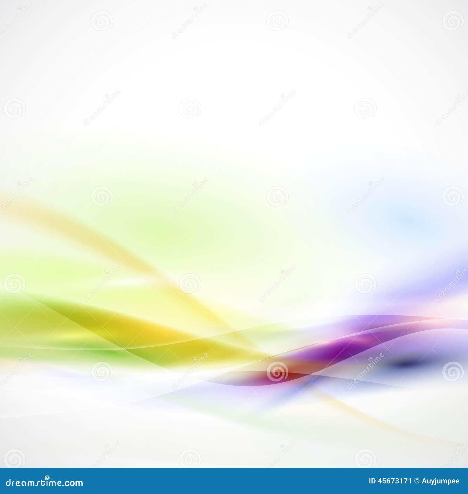 Écoulement coloré régulier abstrait sur le fond blanc, vecteur
