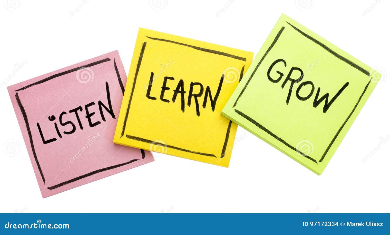 Écoutent, apprennent, se développent - le conseil ou le rappel