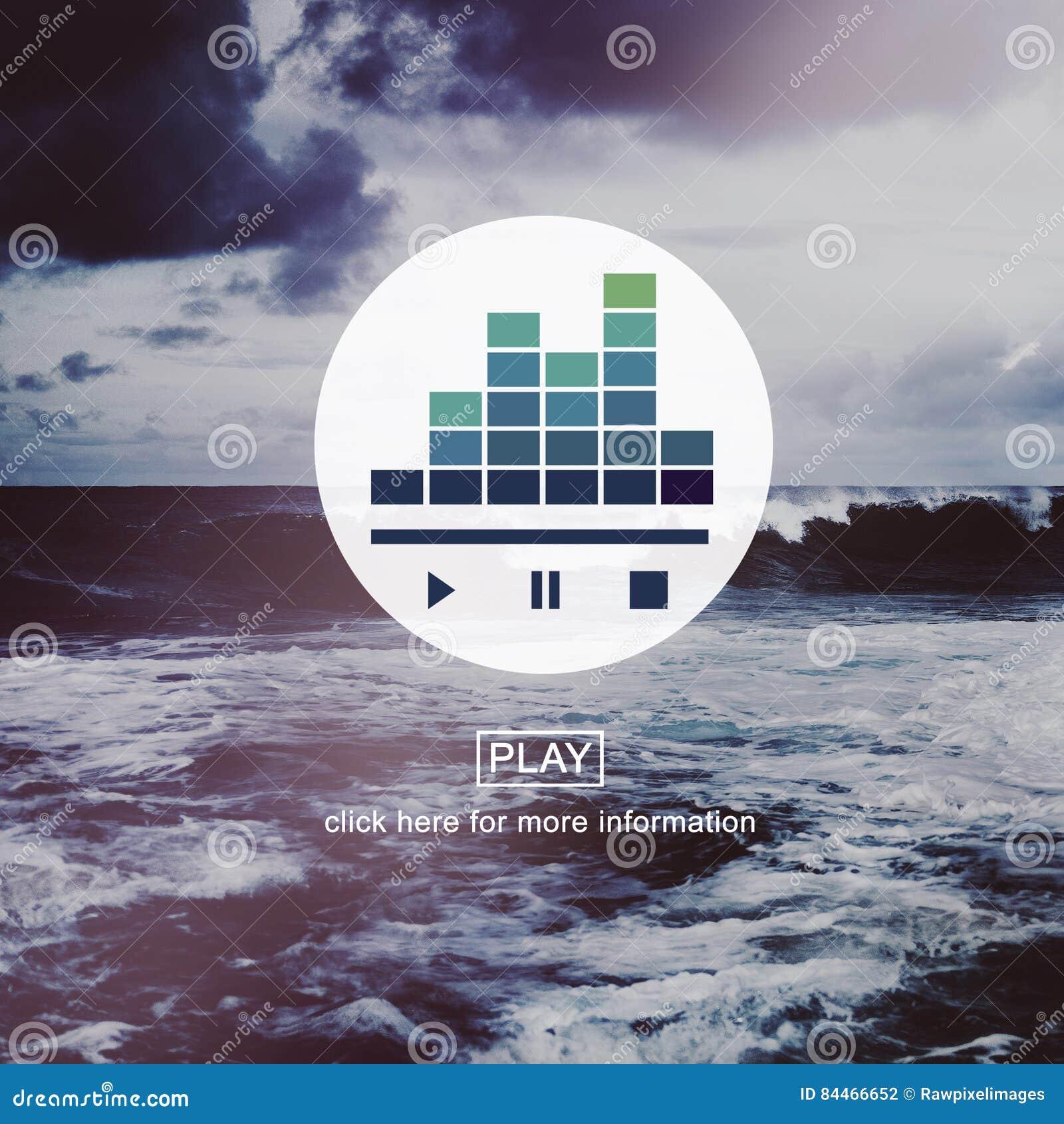 Écoutent le concept audio de pause de jeu de musique