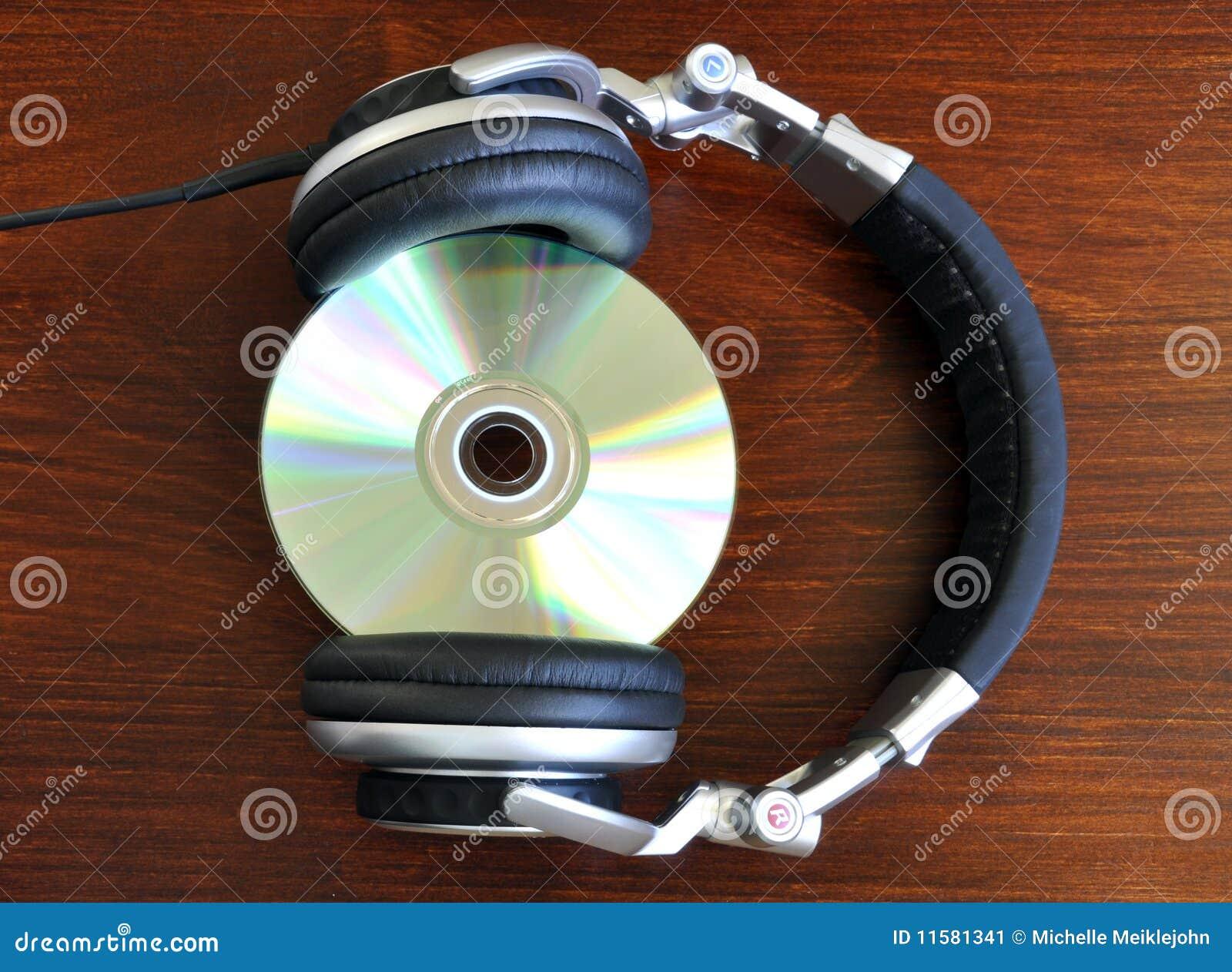 Écouteurs avec du Cd