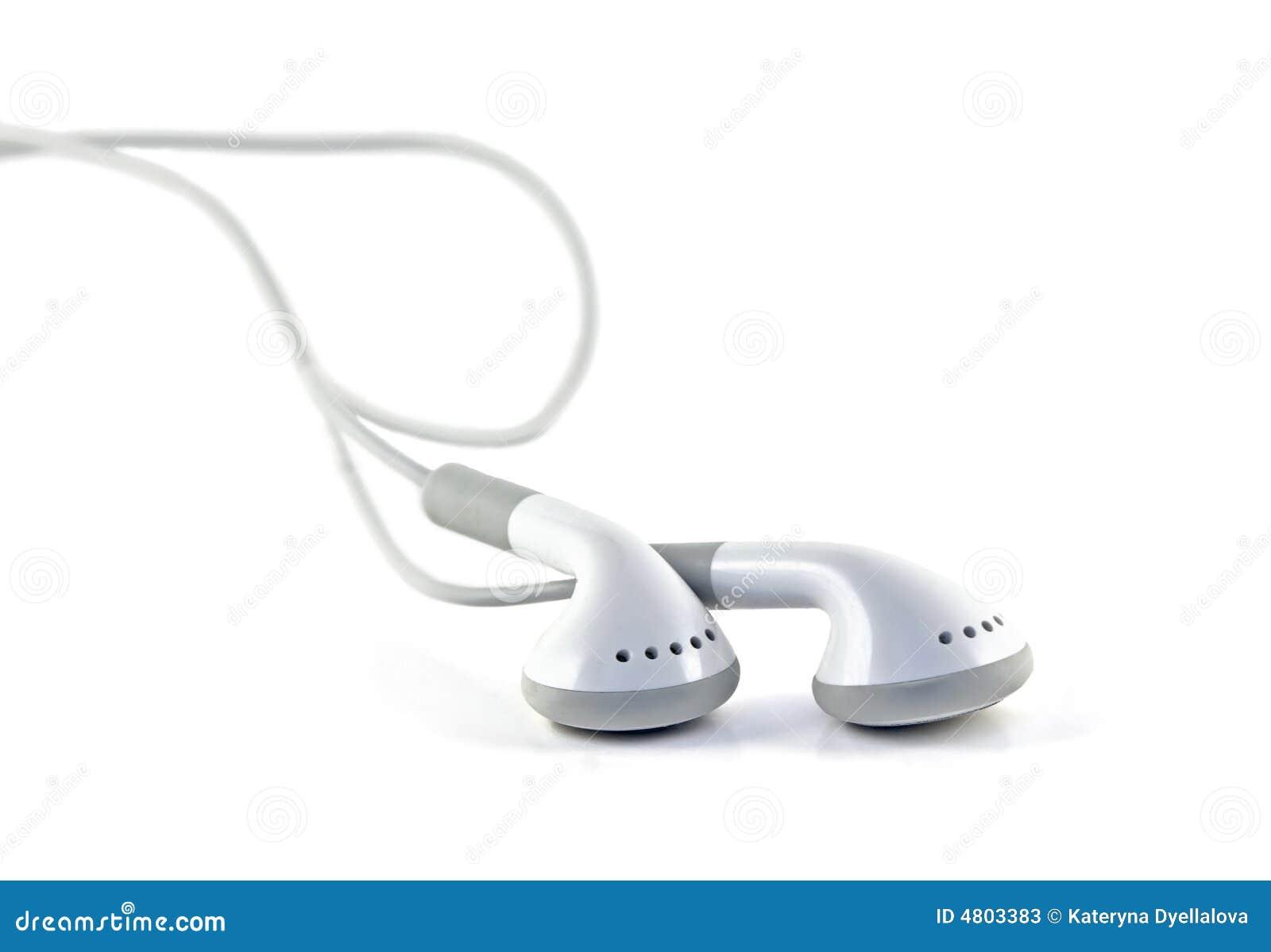 Écouteurs blancs