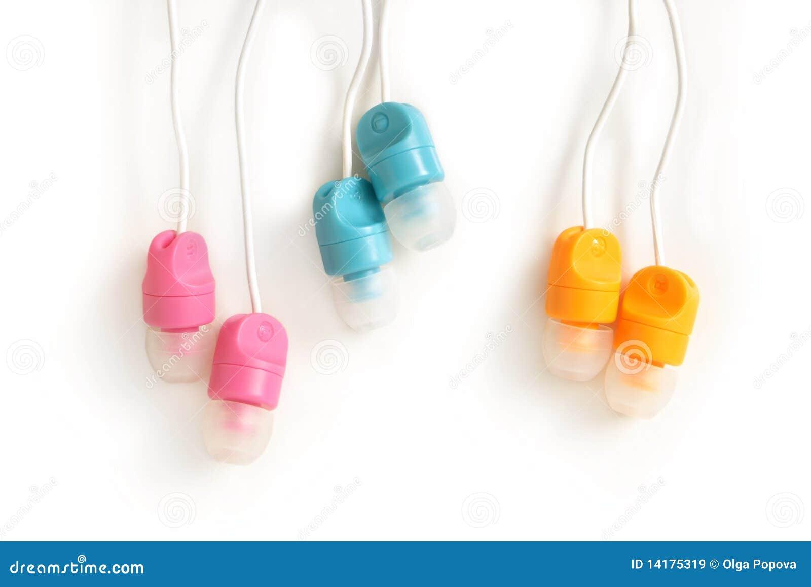 Écouteurs multicolores