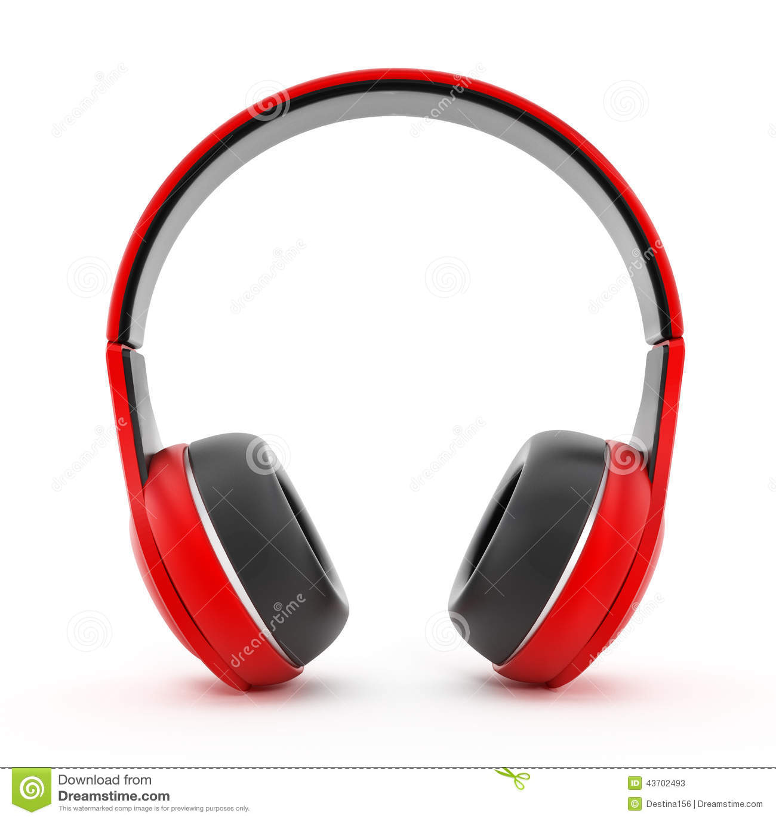 écouteurs rouges